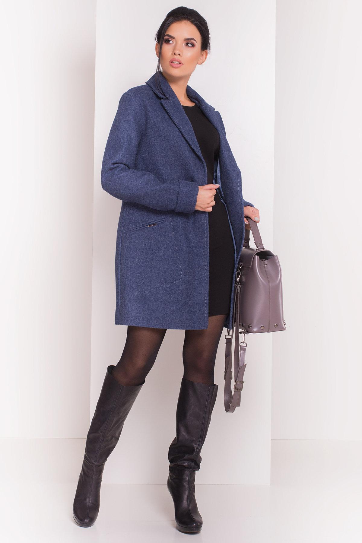 Пальто Ждана  5405 АРТ. 36715 Цвет: Джинс - фото 1, интернет магазин tm-modus.ru