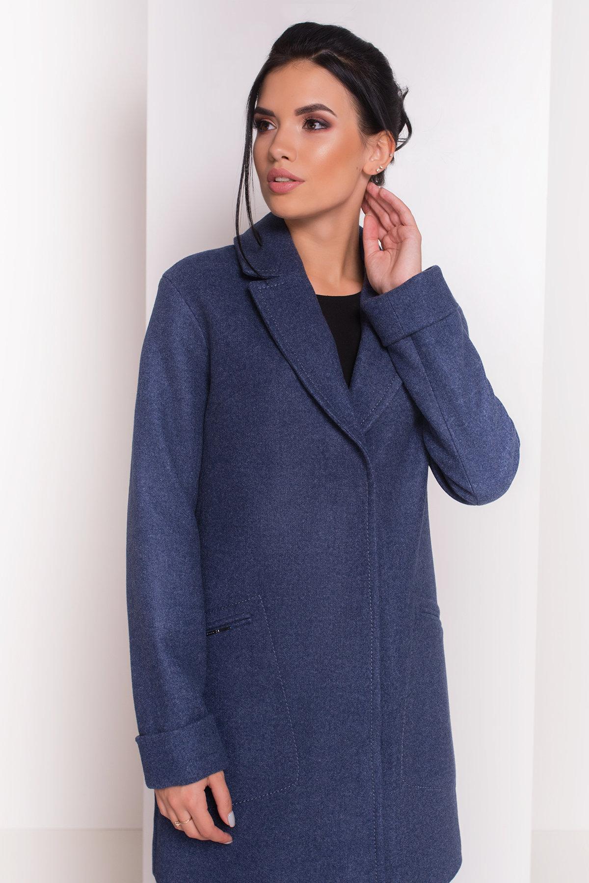 Пальто Ждана  5405 АРТ. 36715 Цвет: Джинс - фото 3, интернет магазин tm-modus.ru