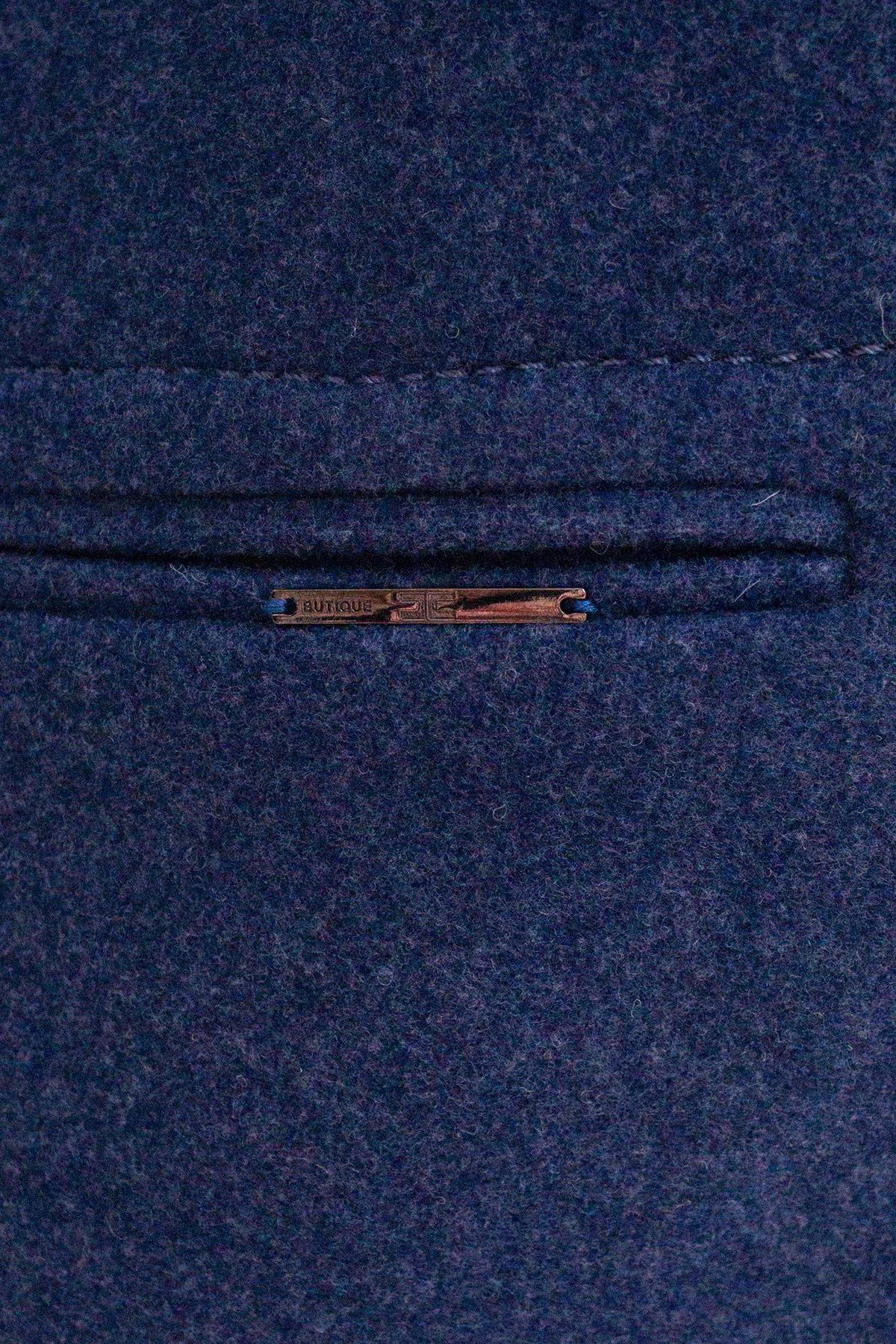 Пальто Ждана  5405 АРТ. 36715 Цвет: Джинс - фото 5, интернет магазин tm-modus.ru
