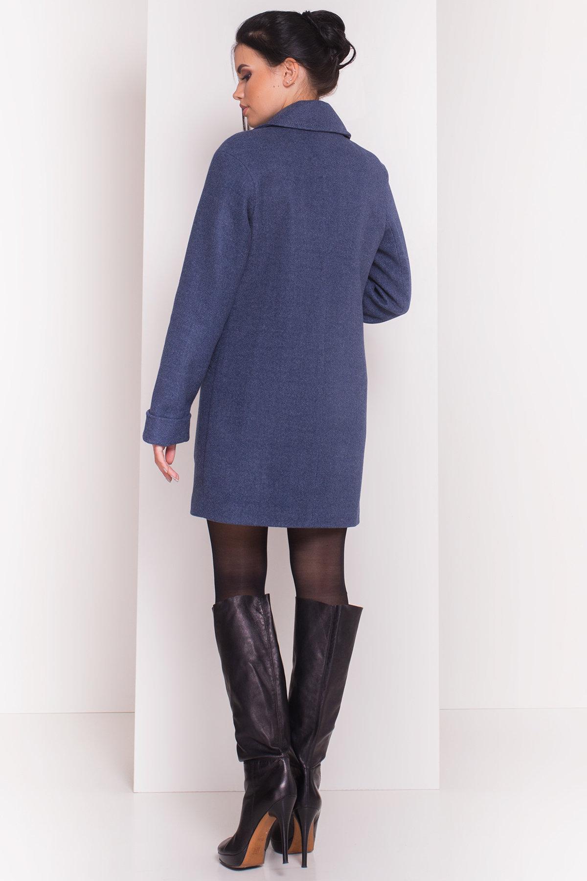 Пальто Ждана  5405 АРТ. 36715 Цвет: Джинс - фото 4, интернет магазин tm-modus.ru