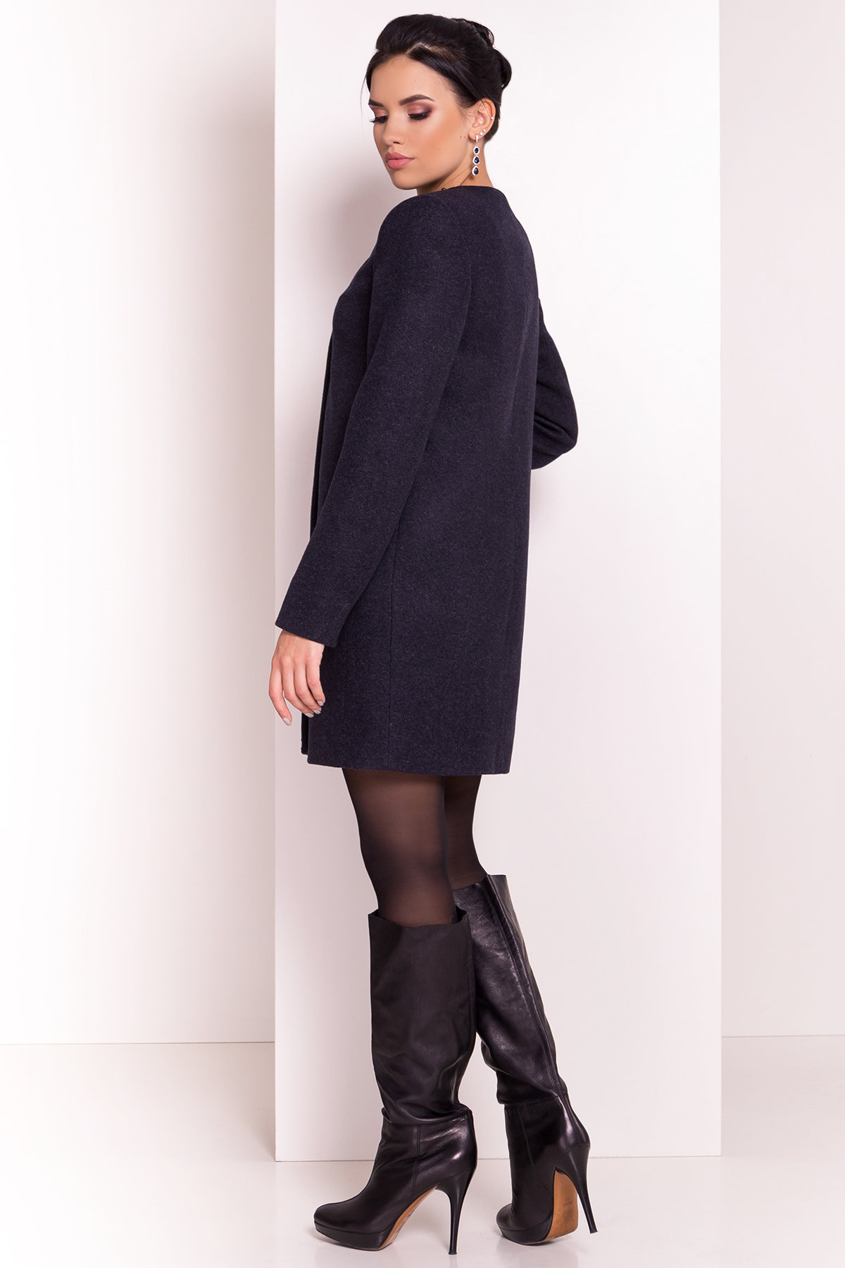 Весенние пальто Пелагея 5512 АРТ. 37061 Цвет: Темно-синий - фото 4, интернет магазин tm-modus.ru