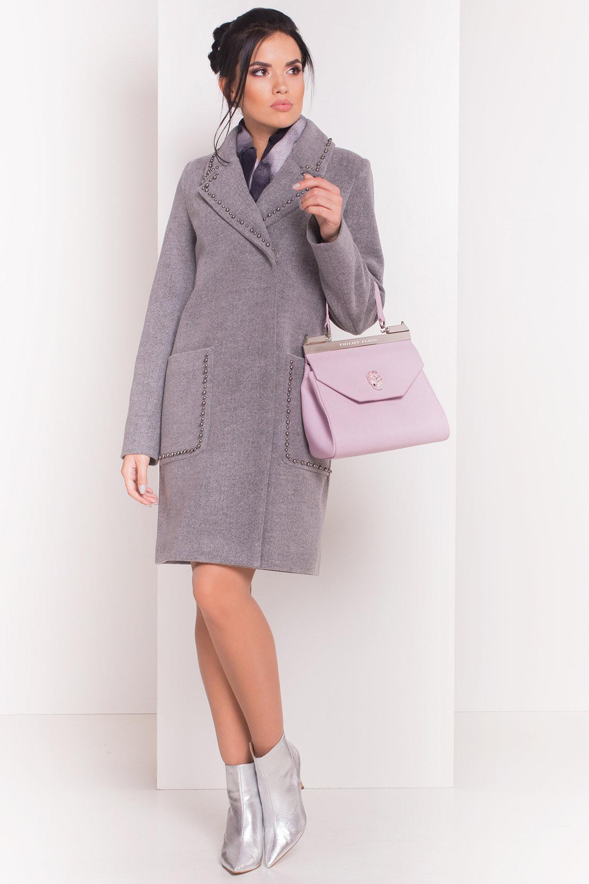 Пальто Кейси 5504 АРТ. 37030 Цвет: Серый 18 - фото 2, интернет магазин tm-modus.ru