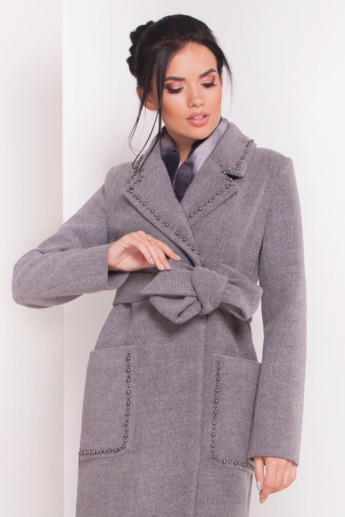 Пальто Кейси 5504 АРТ. 37030 Цвет: Серый 18 - фото 4, интернет магазин tm-modus.ru