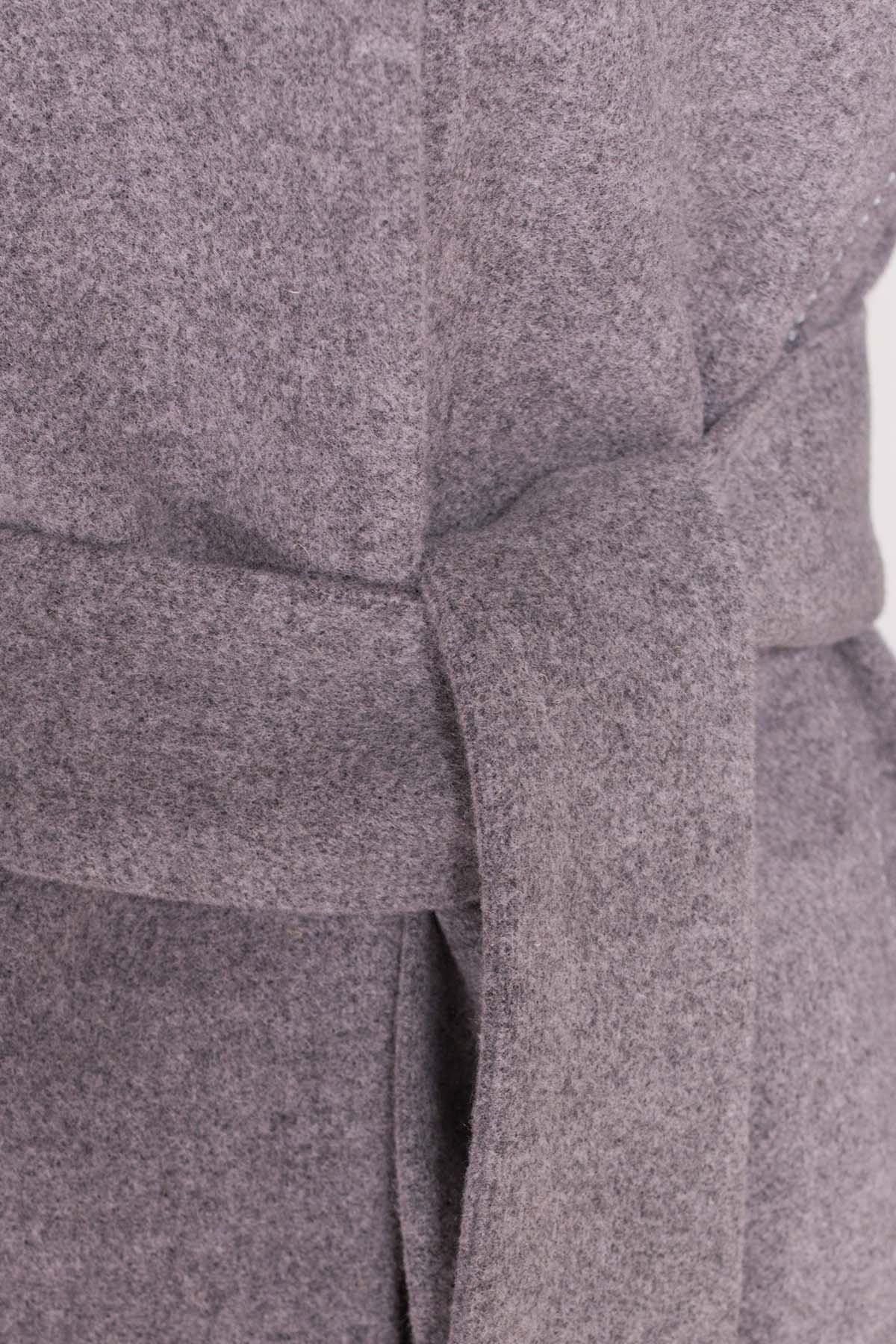 Пальто Кейси 5504 АРТ. 37030 Цвет: Серый 18 - фото 6, интернет магазин tm-modus.ru