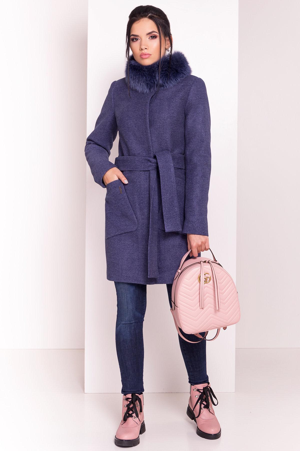 Пальто женское зимнее купить от Modus Пальто зима с меховым воротником стойкой Габи 4175