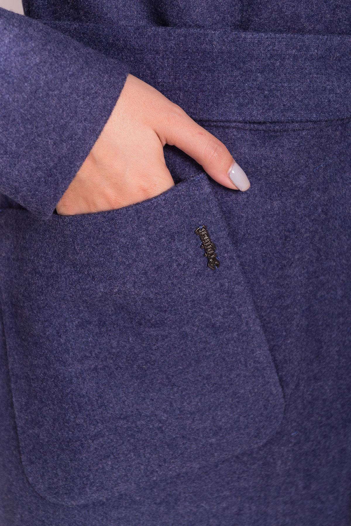 Пальто зима с меховым воротником стойкой Габи 4175 АРТ. 36700 Цвет: Джинс - фото 6, интернет магазин tm-modus.ru