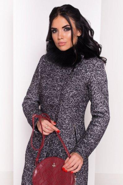 Пальто зима Эльпассо 0631 Цвет: Черный / серый 6