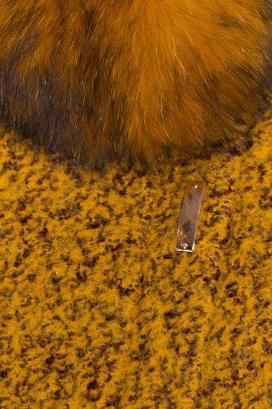 Пальто зима Эльпассо 0631 Цвет: Горчица