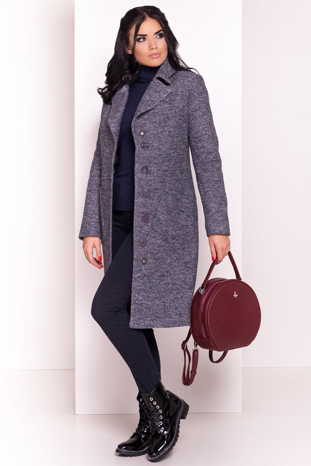 Пальто Габриэлла 4224 АРТ. 20835 Цвет: Серый темный LW-22 - фото 1, интернет магазин tm-modus.ru