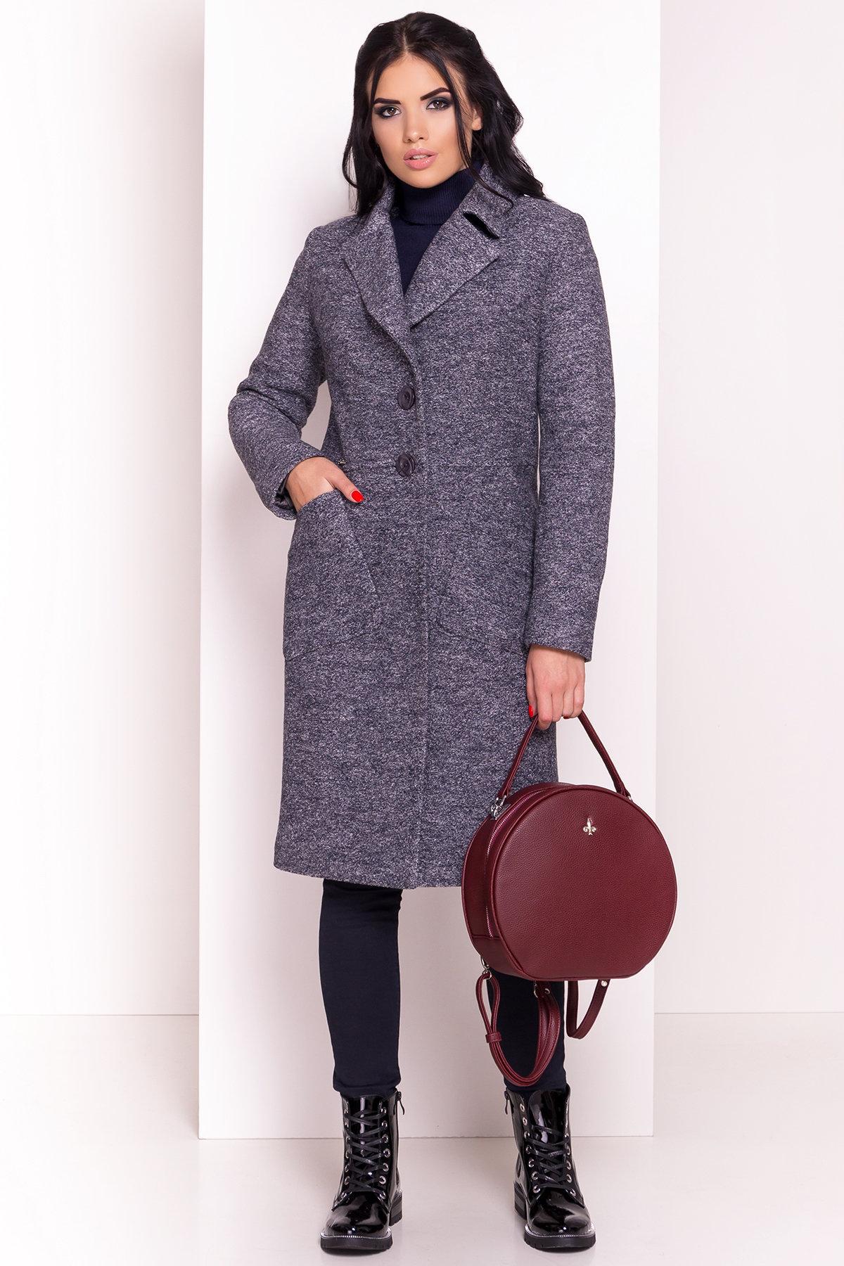 Пальто Габриэлла 4224 АРТ. 20835 Цвет: Серый темный LW-22 - фото 2, интернет магазин tm-modus.ru