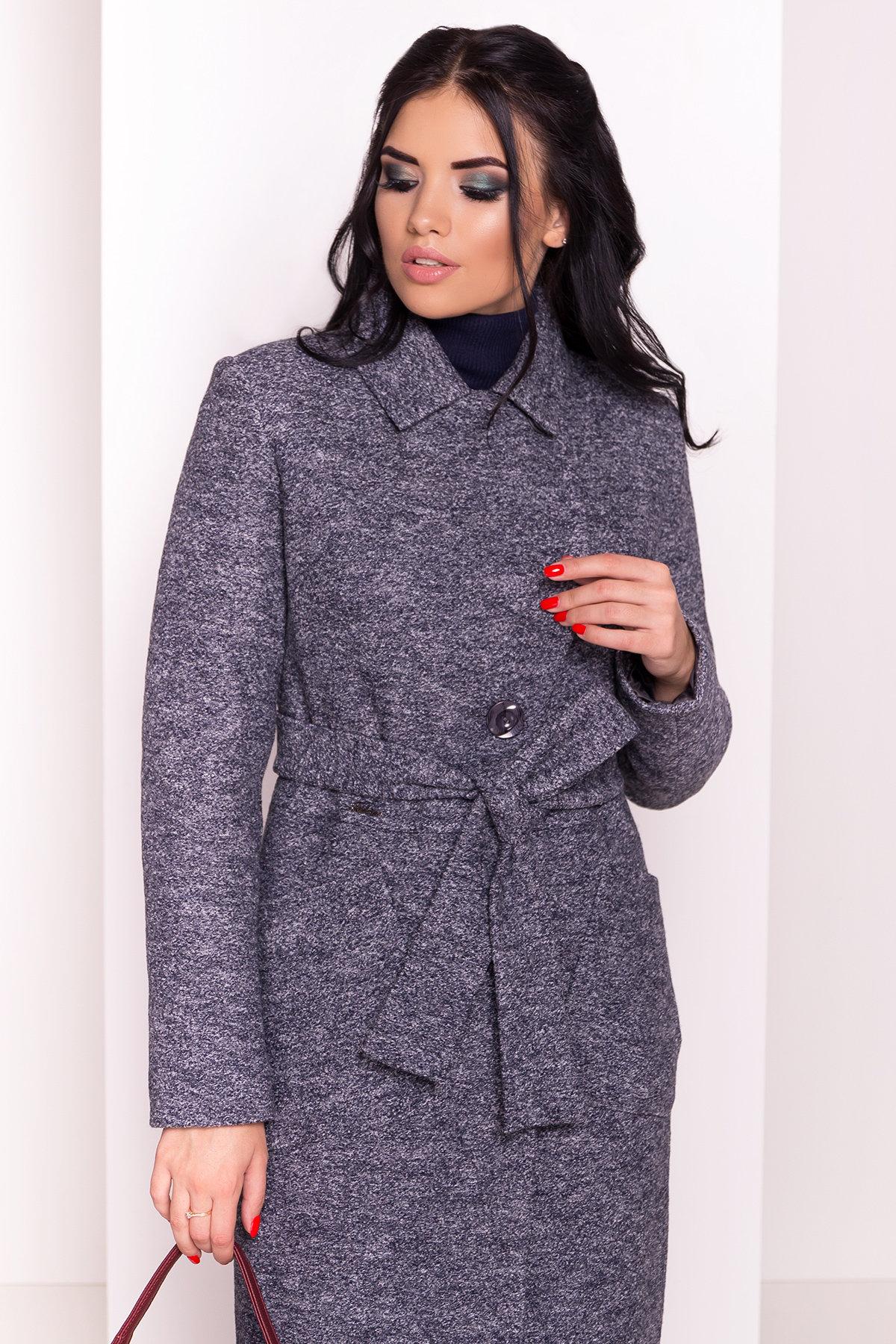Пальто Габриэлла 4224 АРТ. 20835 Цвет: Серый темный LW-22 - фото 4, интернет магазин tm-modus.ru