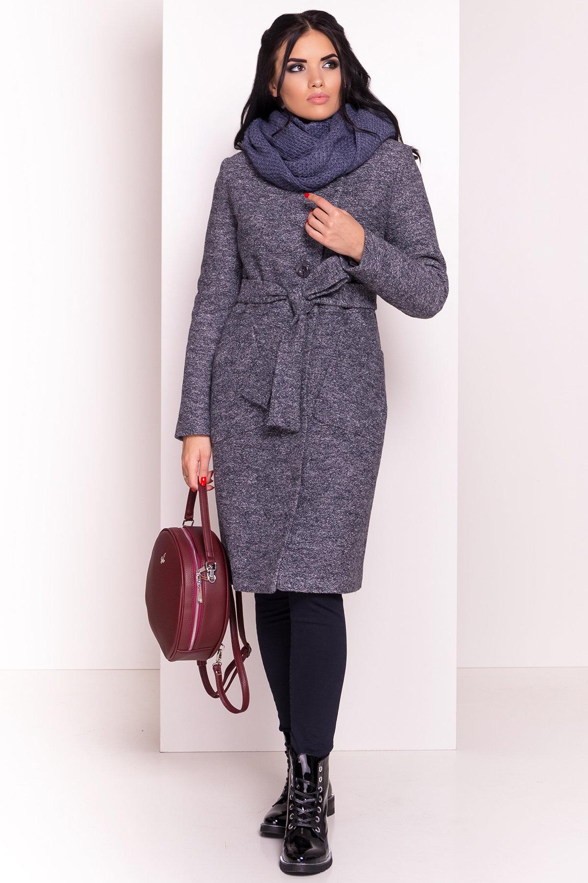 Пальто Габриэлла 4224 АРТ. 20835 Цвет: Серый темный LW-22 - фото 5, интернет магазин tm-modus.ru