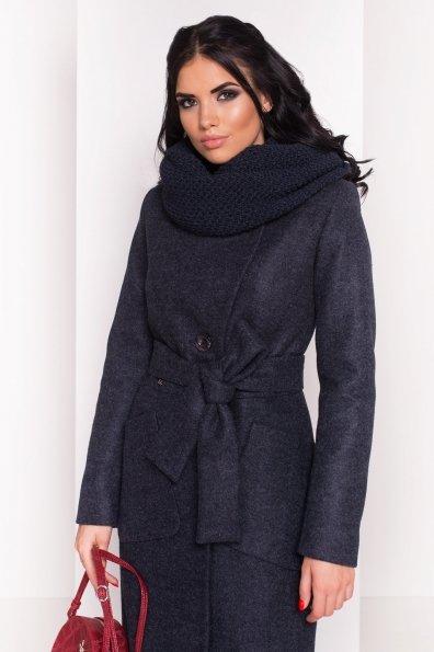 Удлиненное пальто на зиму Габриэлла 4151 Цвет: Темно-синий