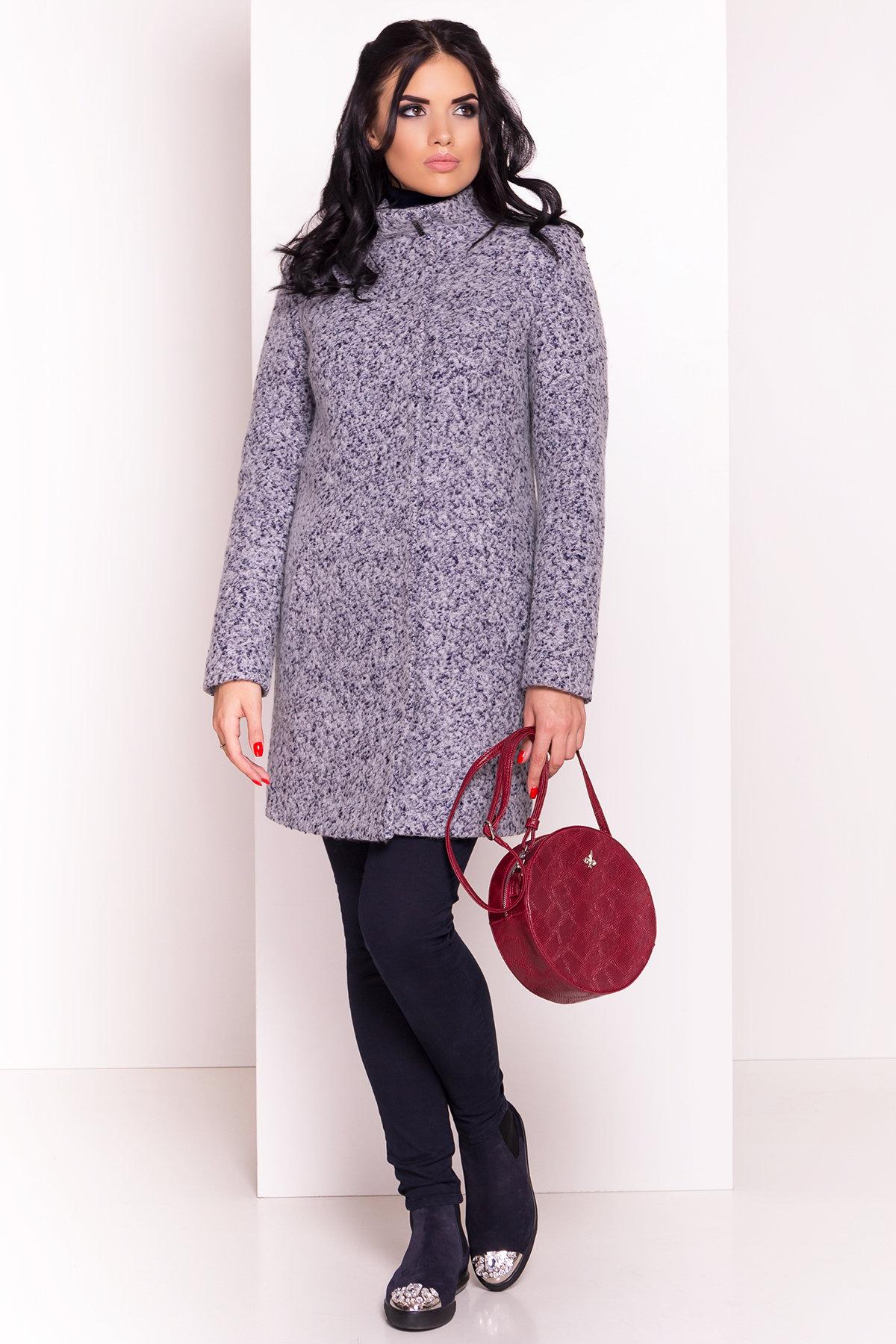 Пальто зима Фортуна 0574 АРТ. 19145 Цвет: Серый/голубой - фото 2, интернет магазин tm-modus.ru