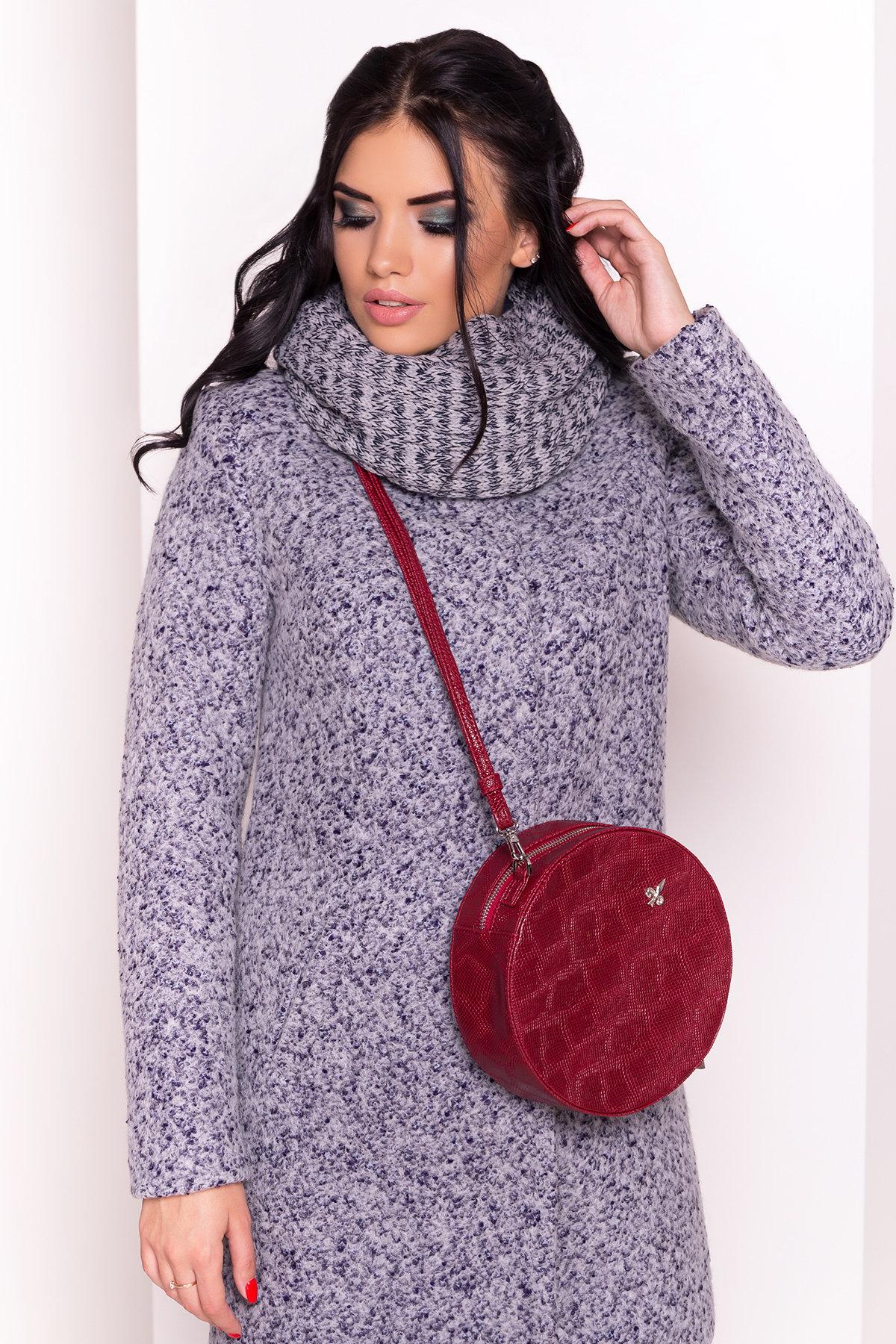 Пальто зима Фортуна 0574 АРТ. 19145 Цвет: Серый/голубой - фото 4, интернет магазин tm-modus.ru