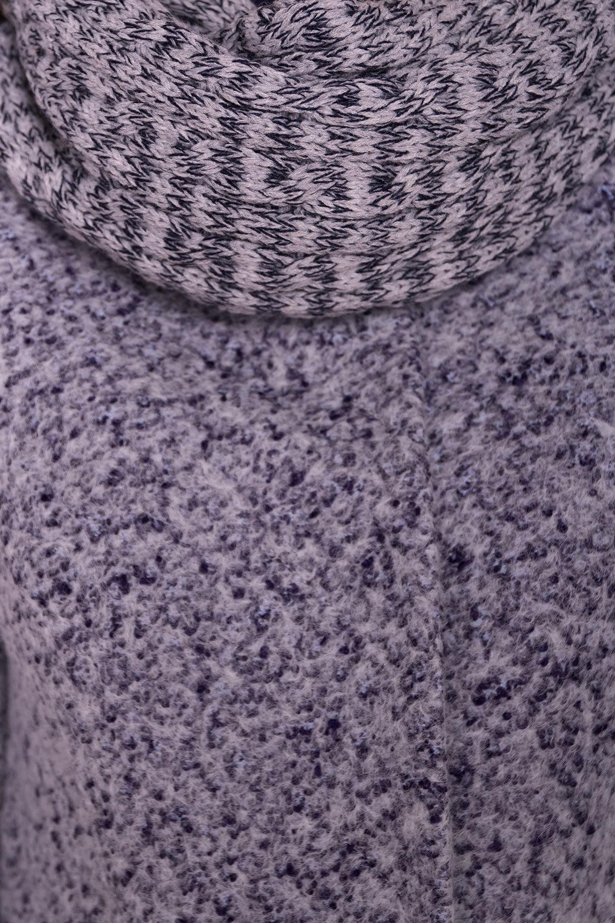 Пальто зима Фортуна 0574 АРТ. 19145 Цвет: Серый/голубой - фото 6, интернет магазин tm-modus.ru