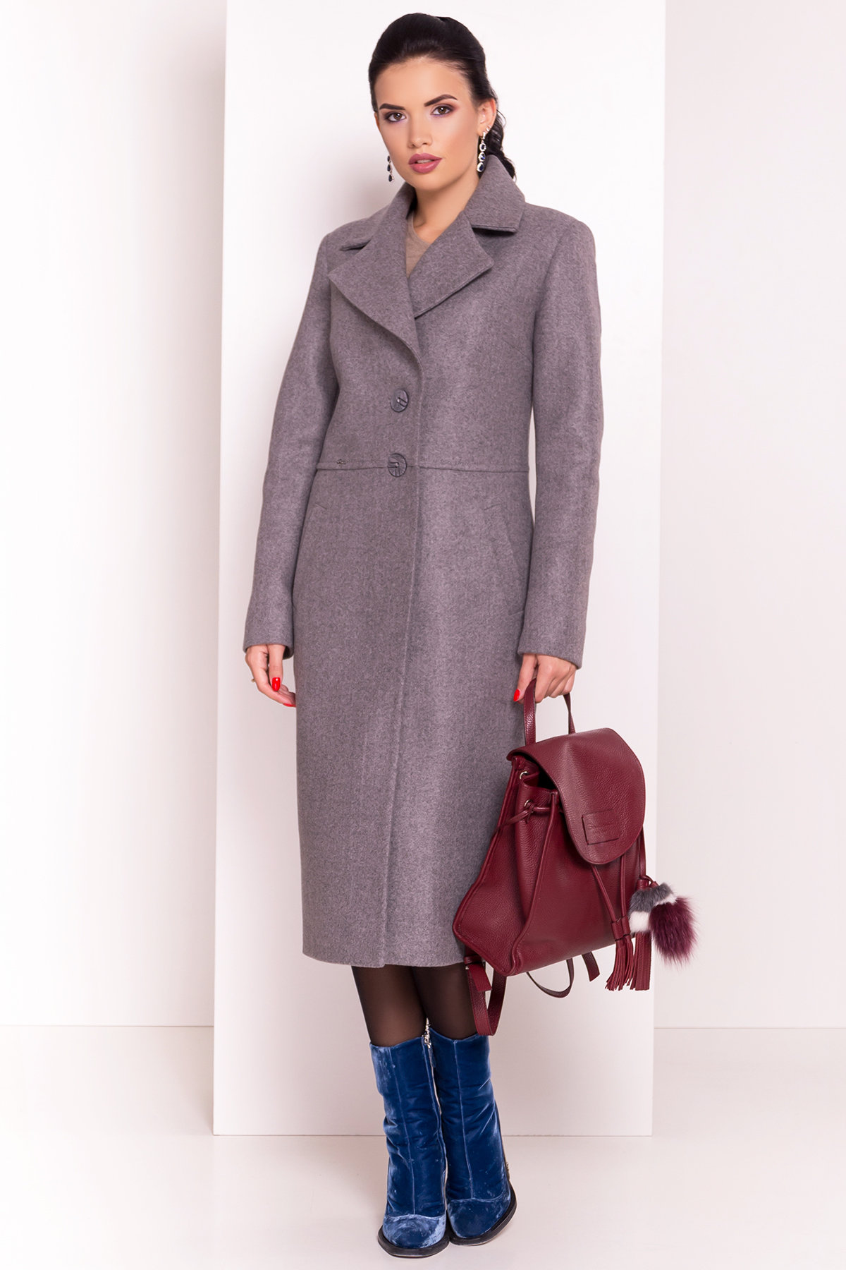 Пальто Габриэлла 5559 Цвет: Серый 44