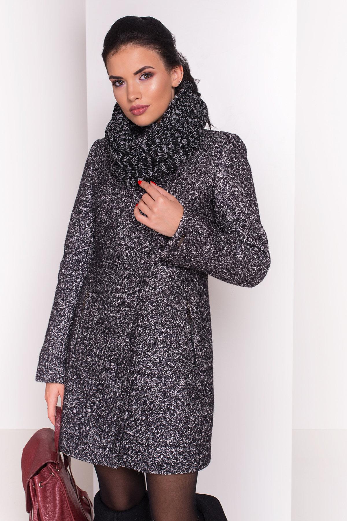 Пальто зима Эльпассо 3681 АРТ. 19191 Цвет: Черный/серый - фото 4, интернет магазин tm-modus.ru
