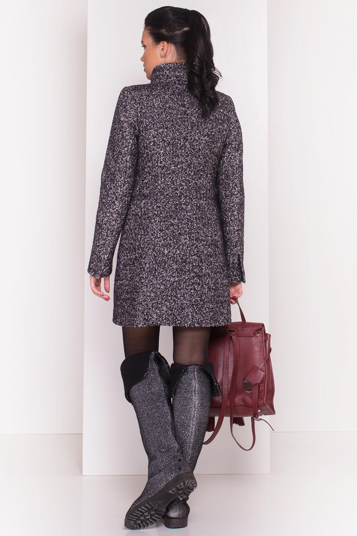 Пальто зима Эльпассо 3681 АРТ. 19191 Цвет: Черный/серый - фото 5, интернет магазин tm-modus.ru