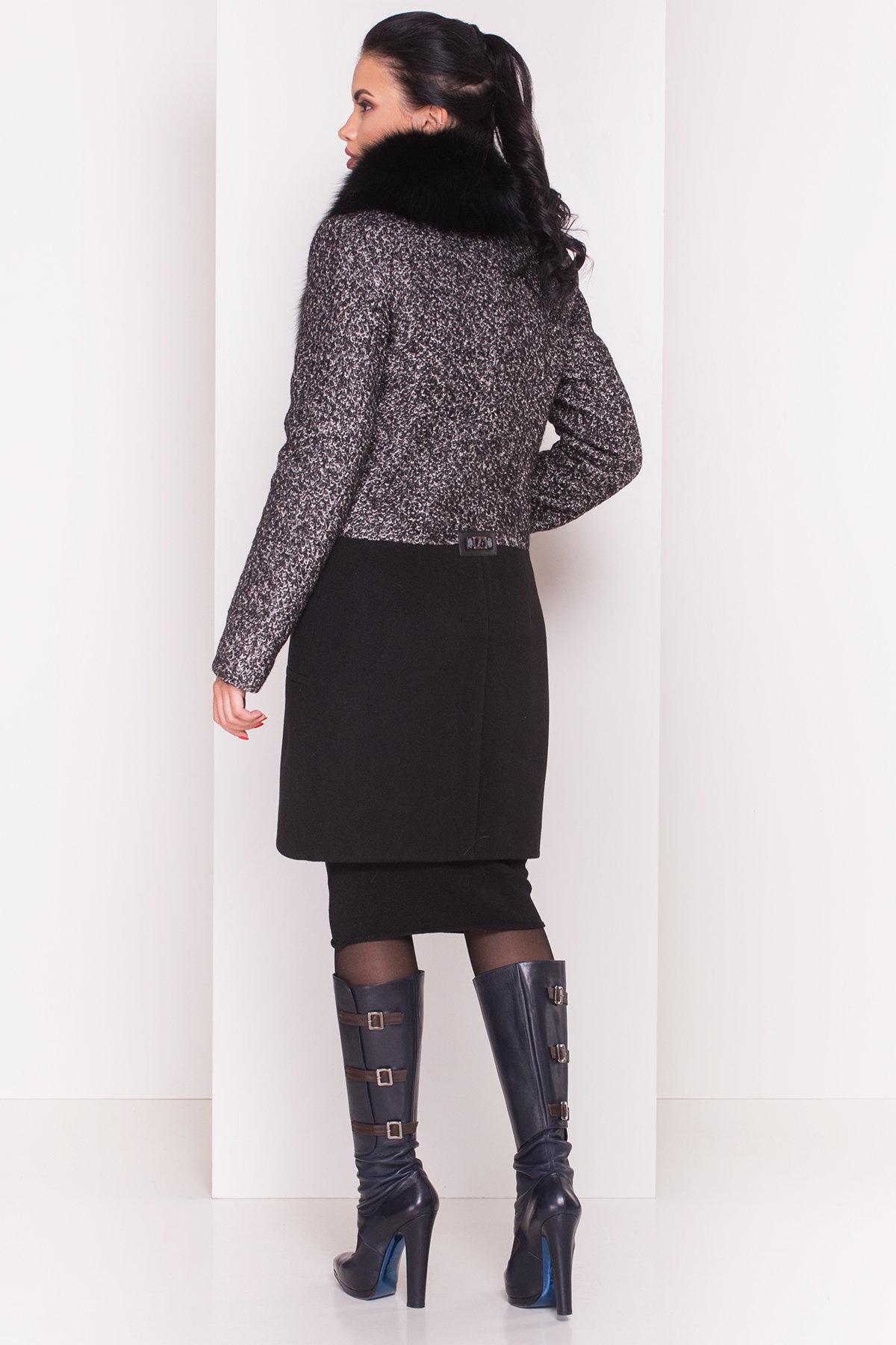 Пальто зима Мальта 0648 АРТ. 7363 Цвет: Чёрно-серый / Черный - фото 4, интернет магазин tm-modus.ru