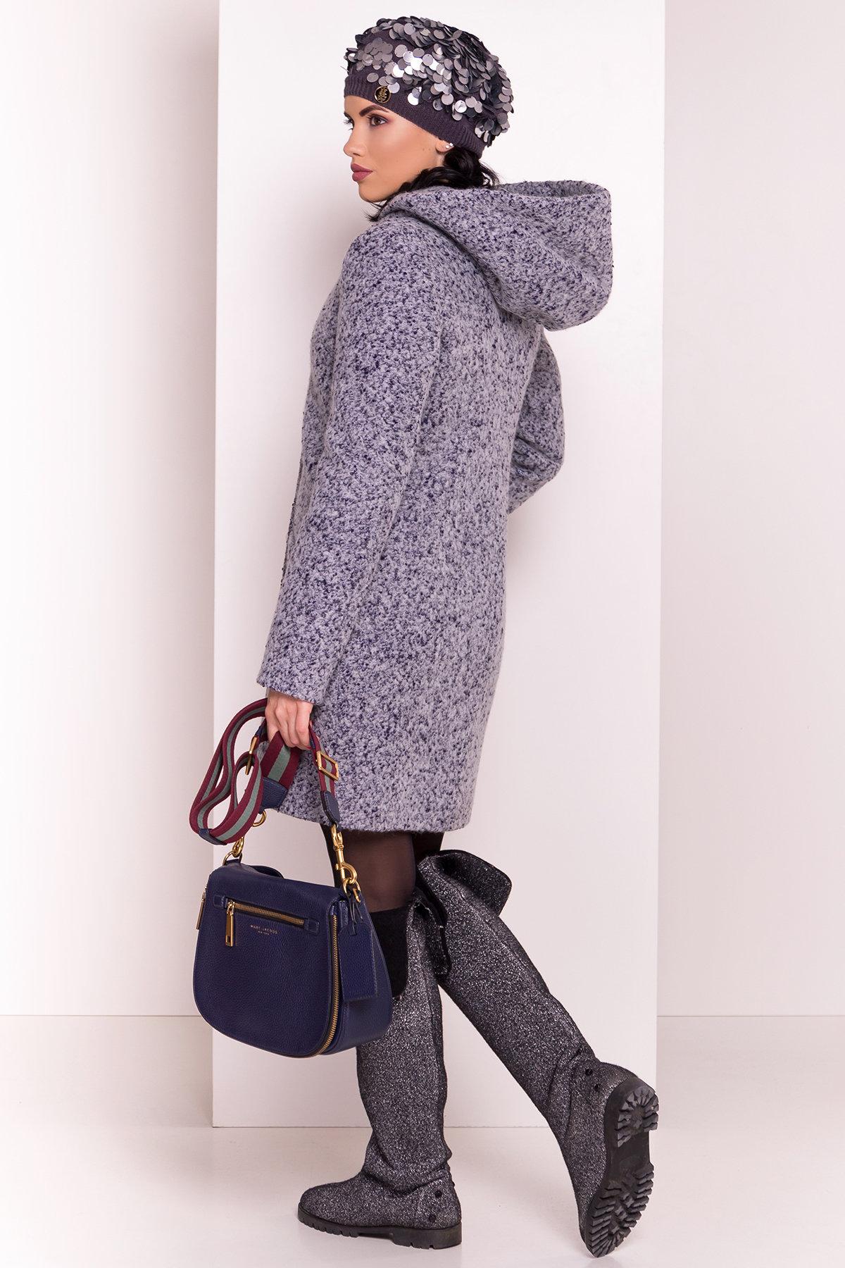 Пальто зима Делфи 3679 Цвет: Серый/голубой