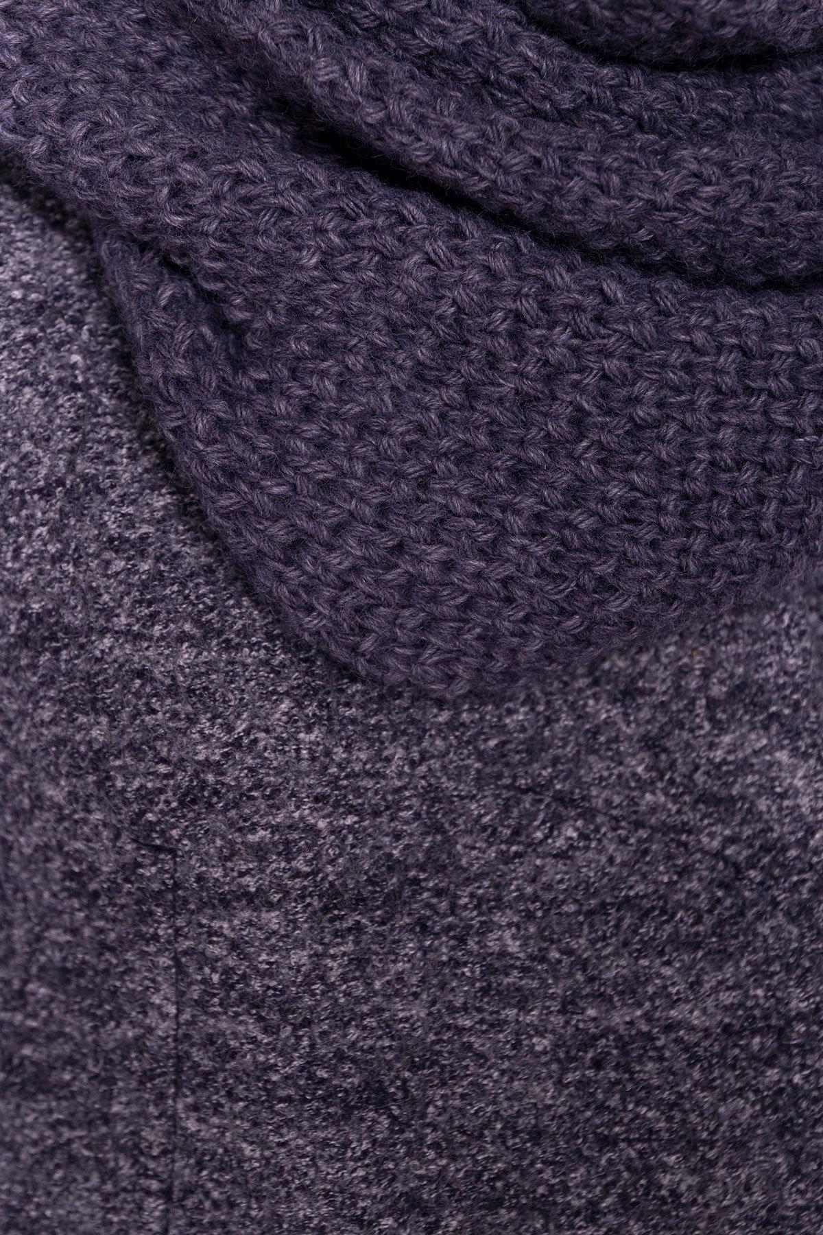 Пальто зима Ларси 3809 Цвет: Серый темный LW-22