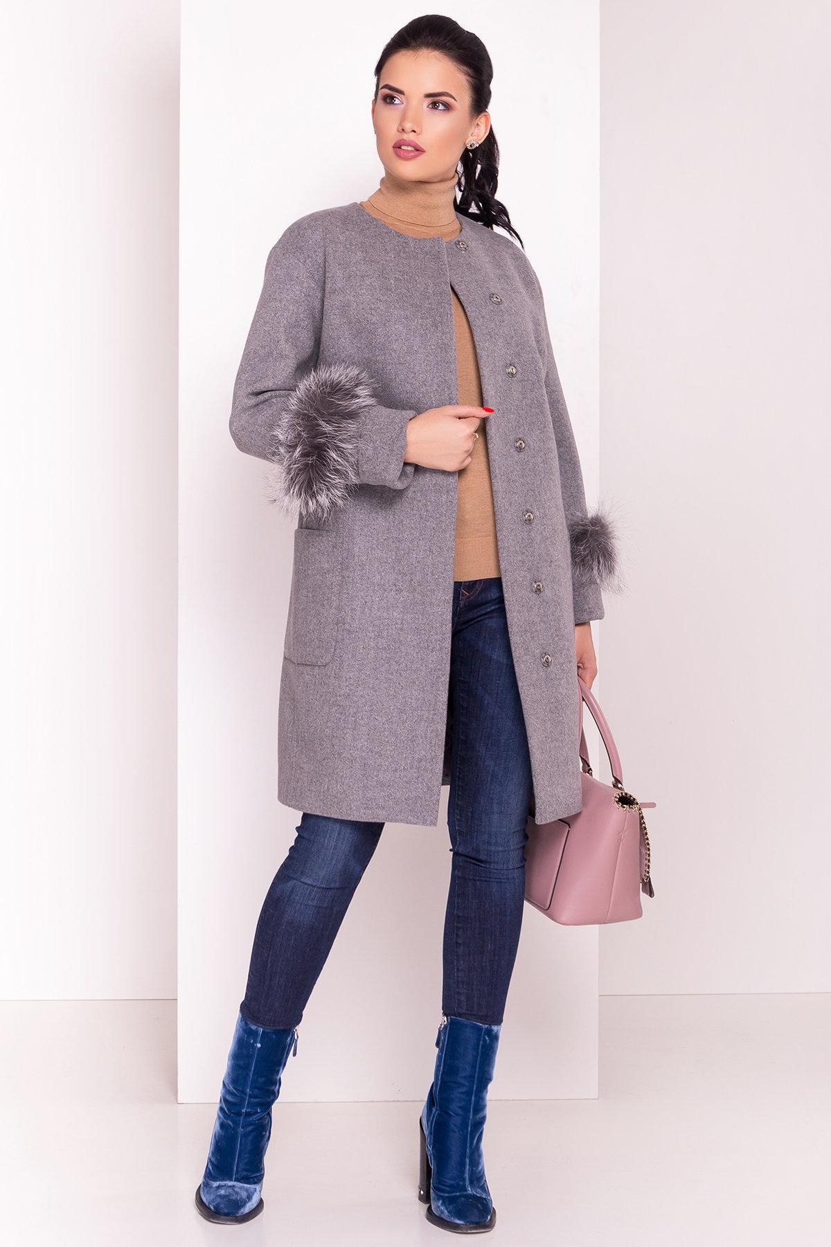Пальто Кристина 5422 АРТ. 36805 Цвет: Серый 18 - фото 1, интернет магазин tm-modus.ru