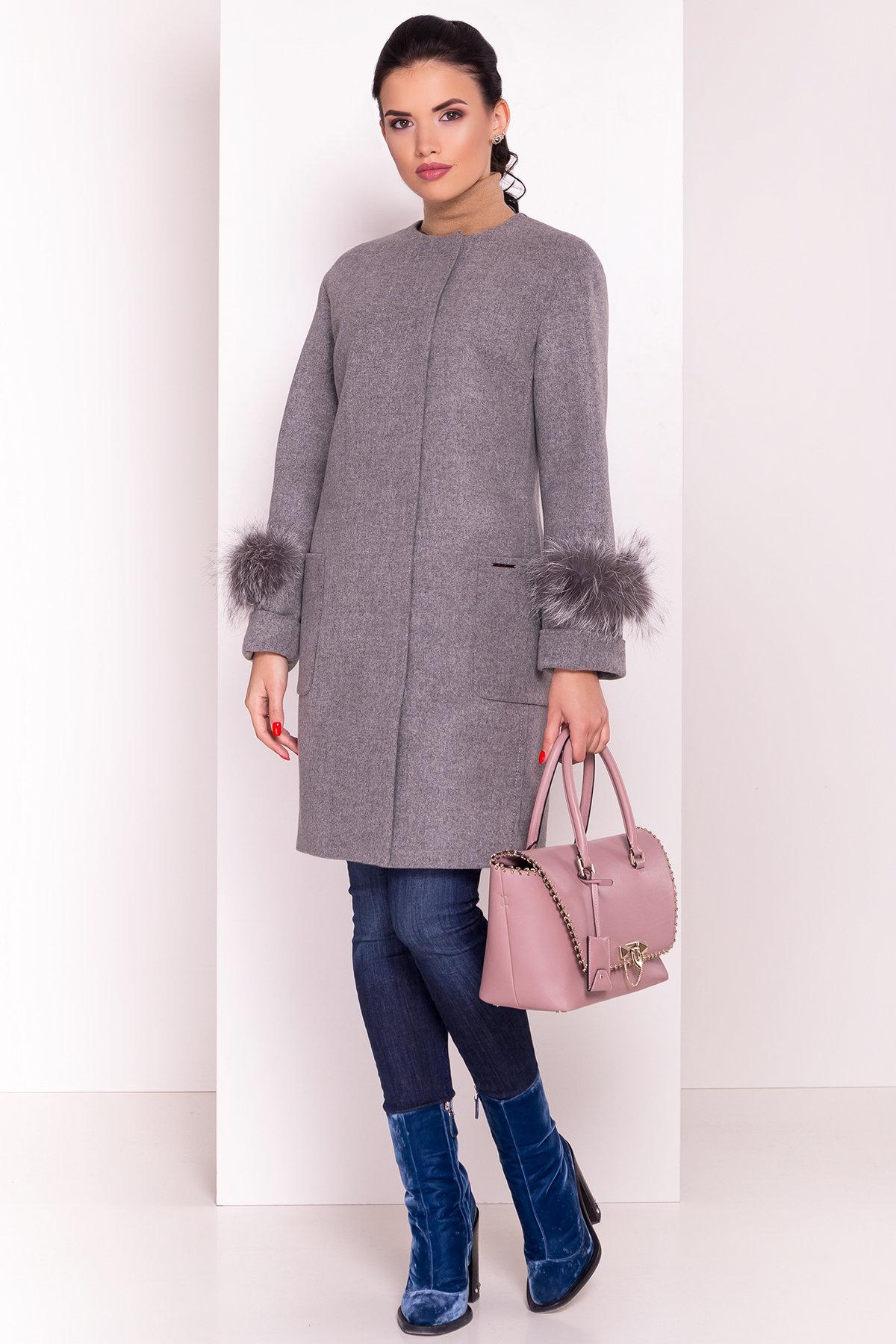 Пальто Кристина 5422 АРТ. 36805 Цвет: Серый 18 - фото 2, интернет магазин tm-modus.ru
