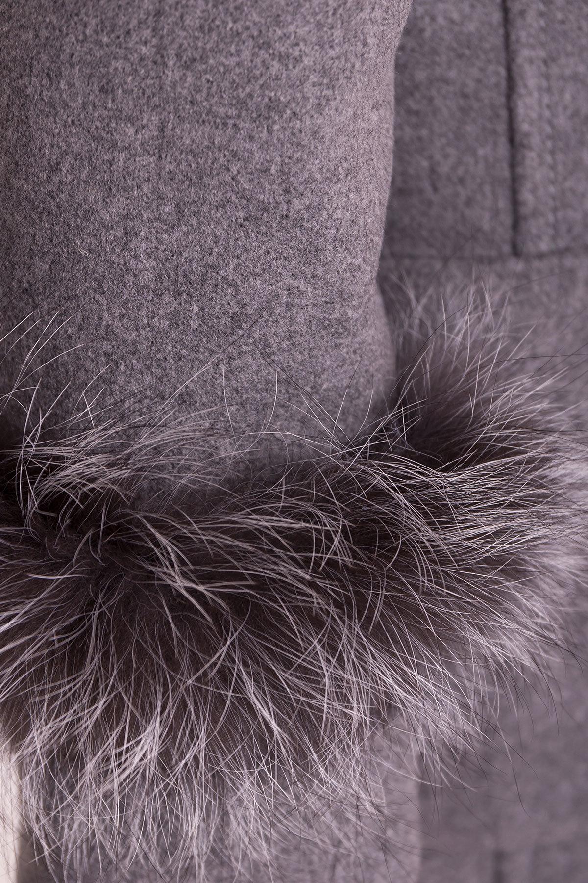 Пальто Кристина 5422 АРТ. 36805 Цвет: Серый 18 - фото 6, интернет магазин tm-modus.ru
