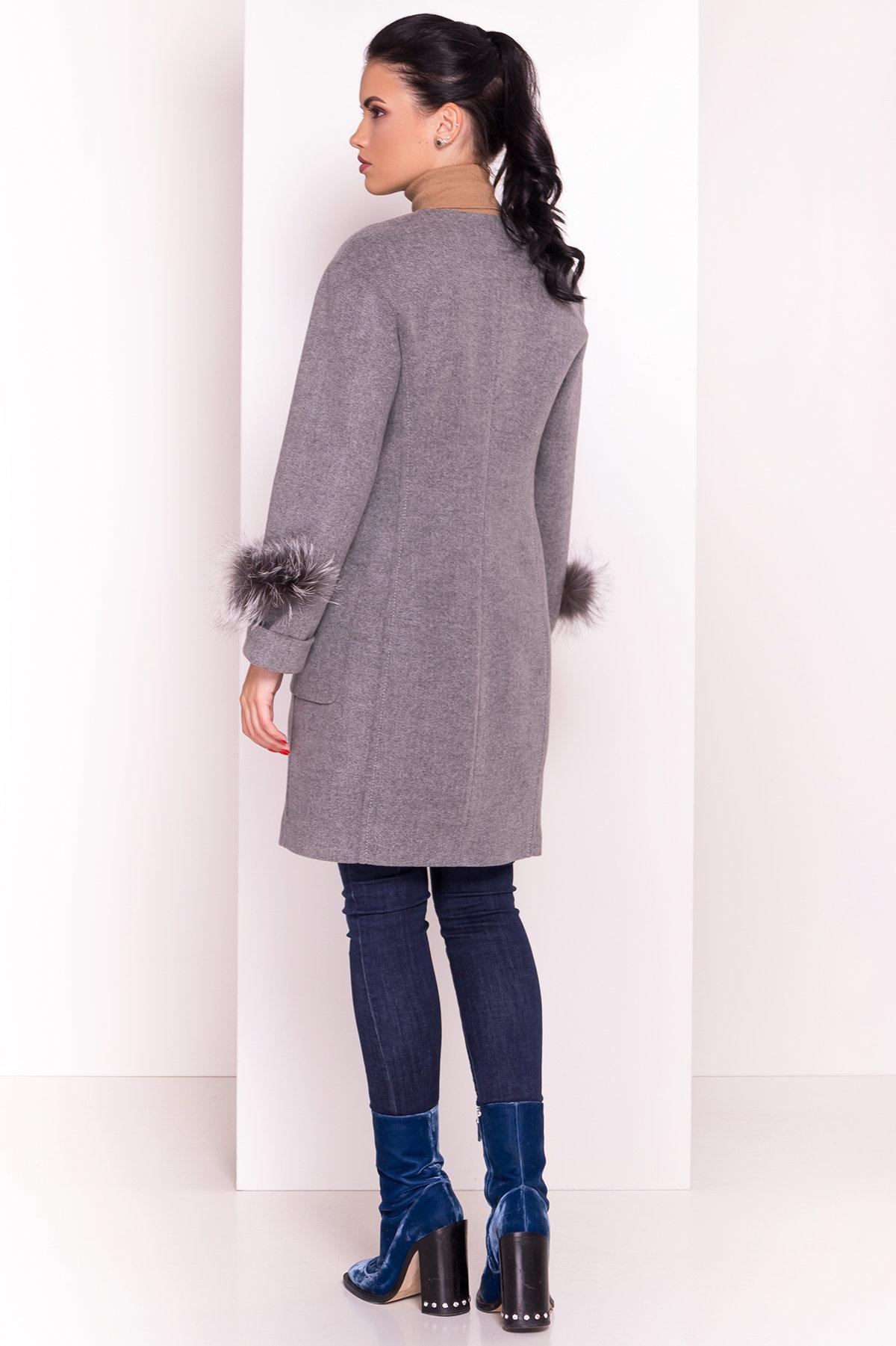 Пальто Кристина 5422 АРТ. 36805 Цвет: Серый 18 - фото 5, интернет магазин tm-modus.ru