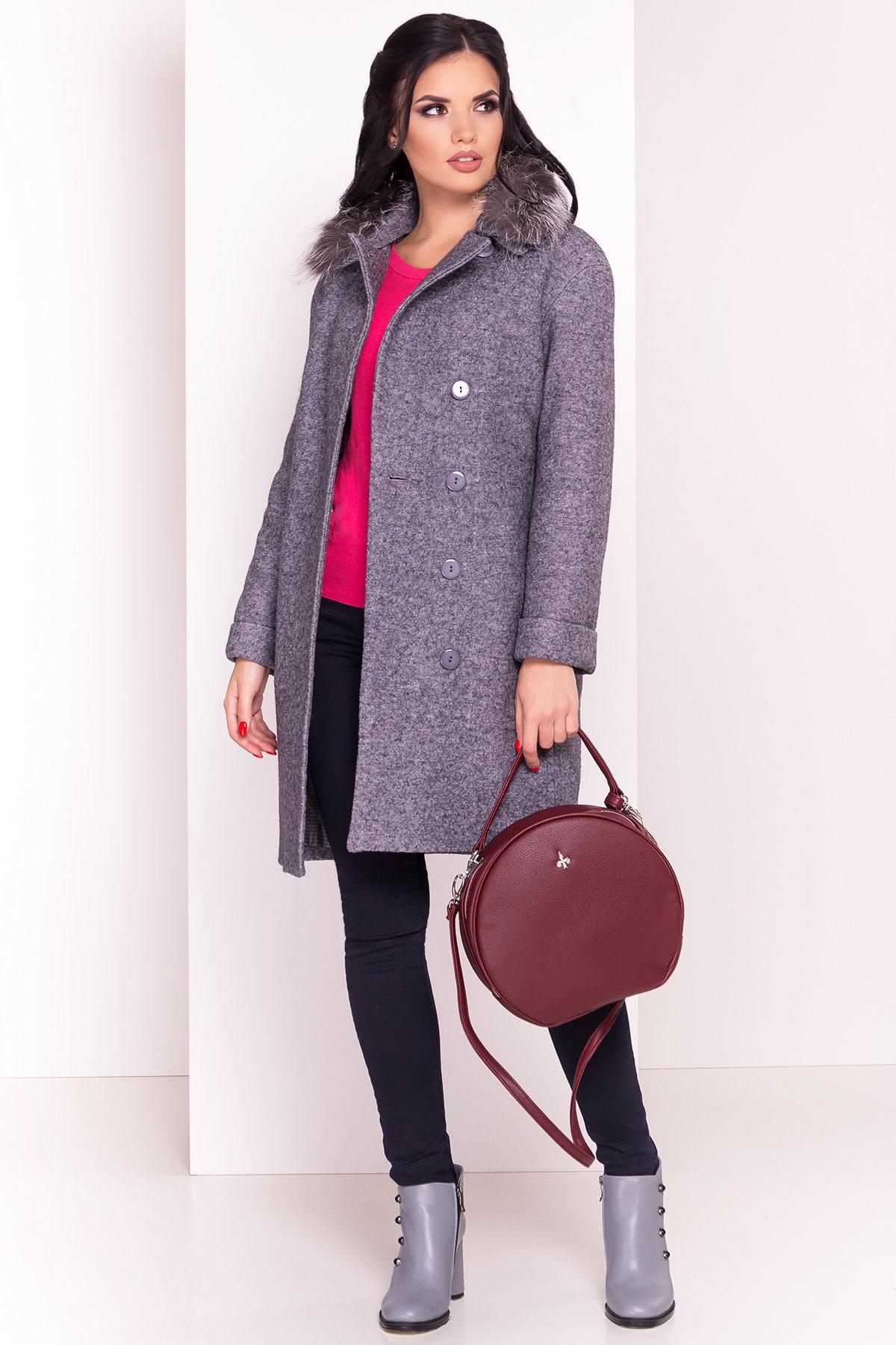 Пальто зима Приора 5427  АРТ. 36750 Цвет: Серый Темный LW-47 - фото 1, интернет магазин tm-modus.ru