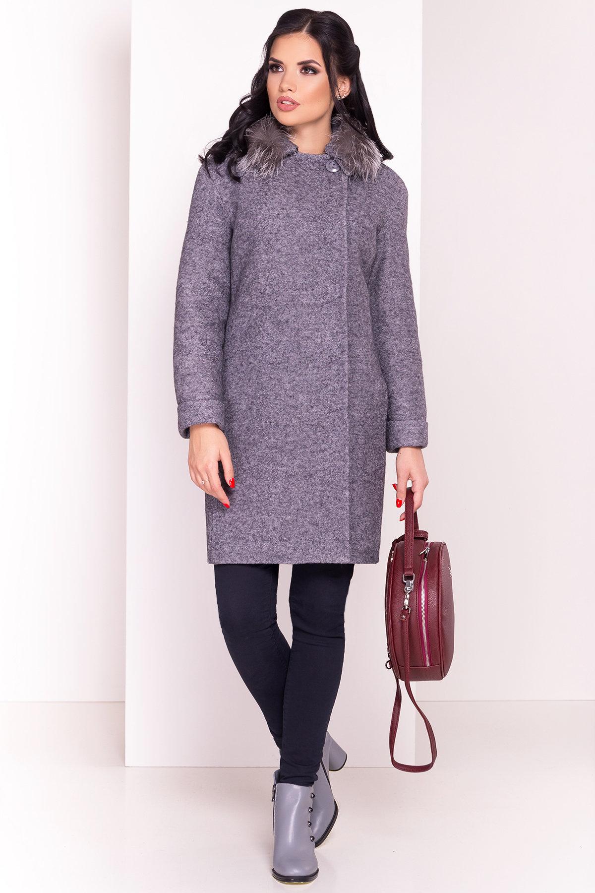 Пальто зима Приора 5427  АРТ. 36750 Цвет: Серый Темный LW-47 - фото 2, интернет магазин tm-modus.ru