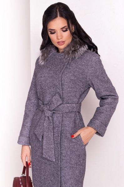 Пальто зима Приора 5427  Цвет: Серый Темный LW-47