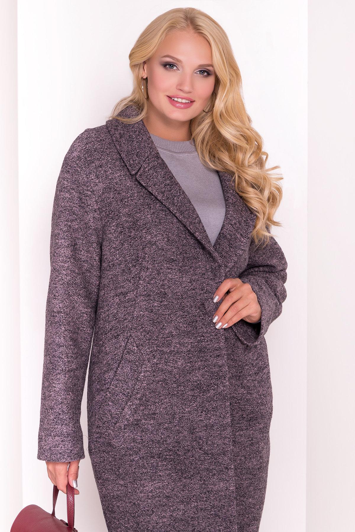 Пальто Арсина Donna 4451 АРТ. 21635 Цвет: Черный/розовый-LW19 - фото 3, интернет магазин tm-modus.ru