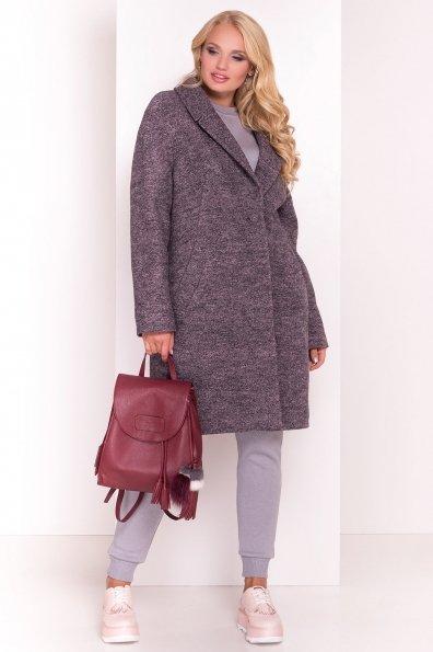 Пальто Арсина Donna 4451 Цвет: Черный/розовый-LW19