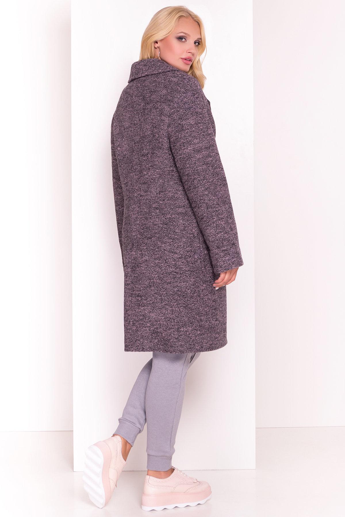 Пальто Арсина Donna 4451 АРТ. 21635 Цвет: Черный/розовый-LW19 - фото 4, интернет магазин tm-modus.ru