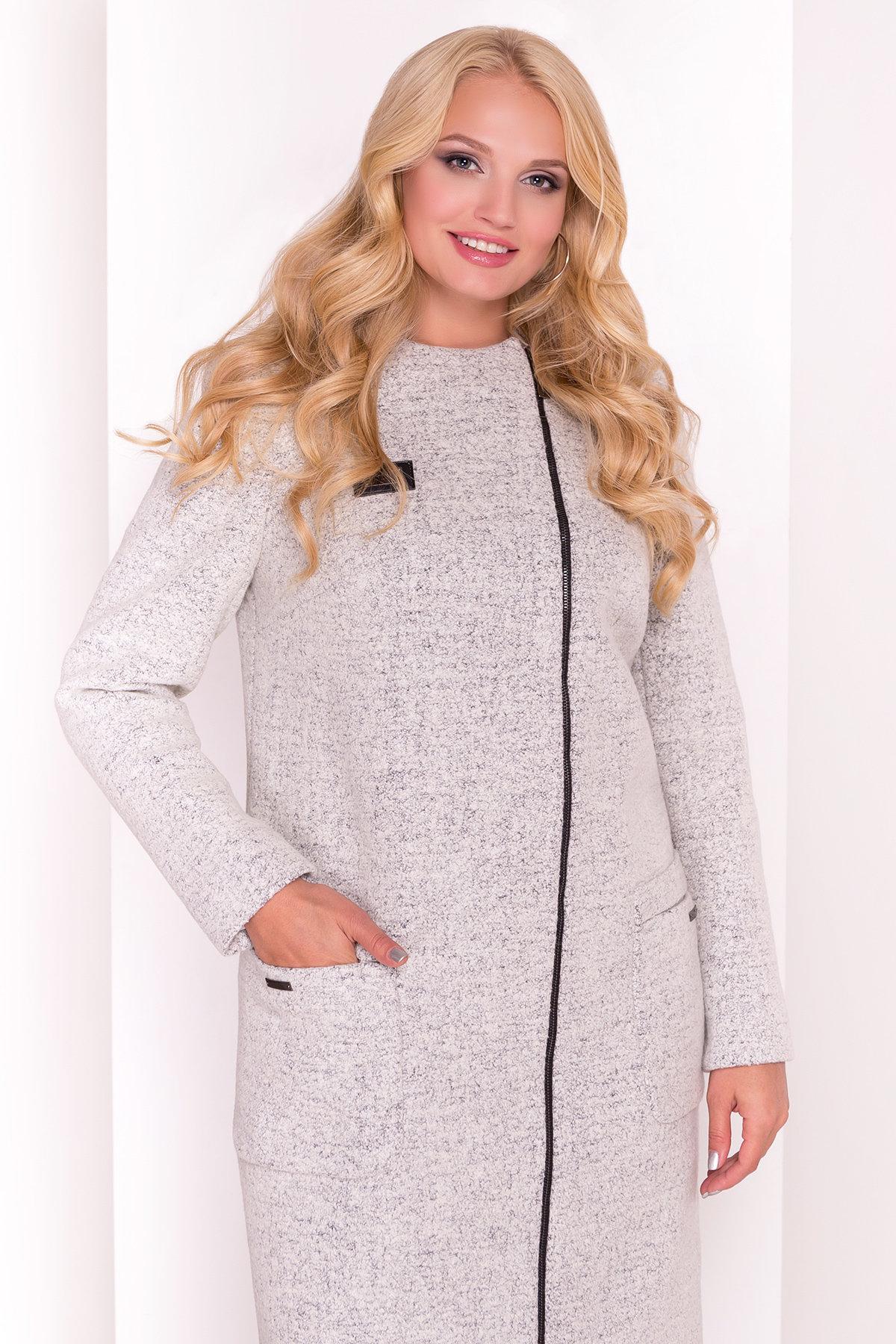 Пальто Милтон Donna 3376 Цвет: Светло-серый 47