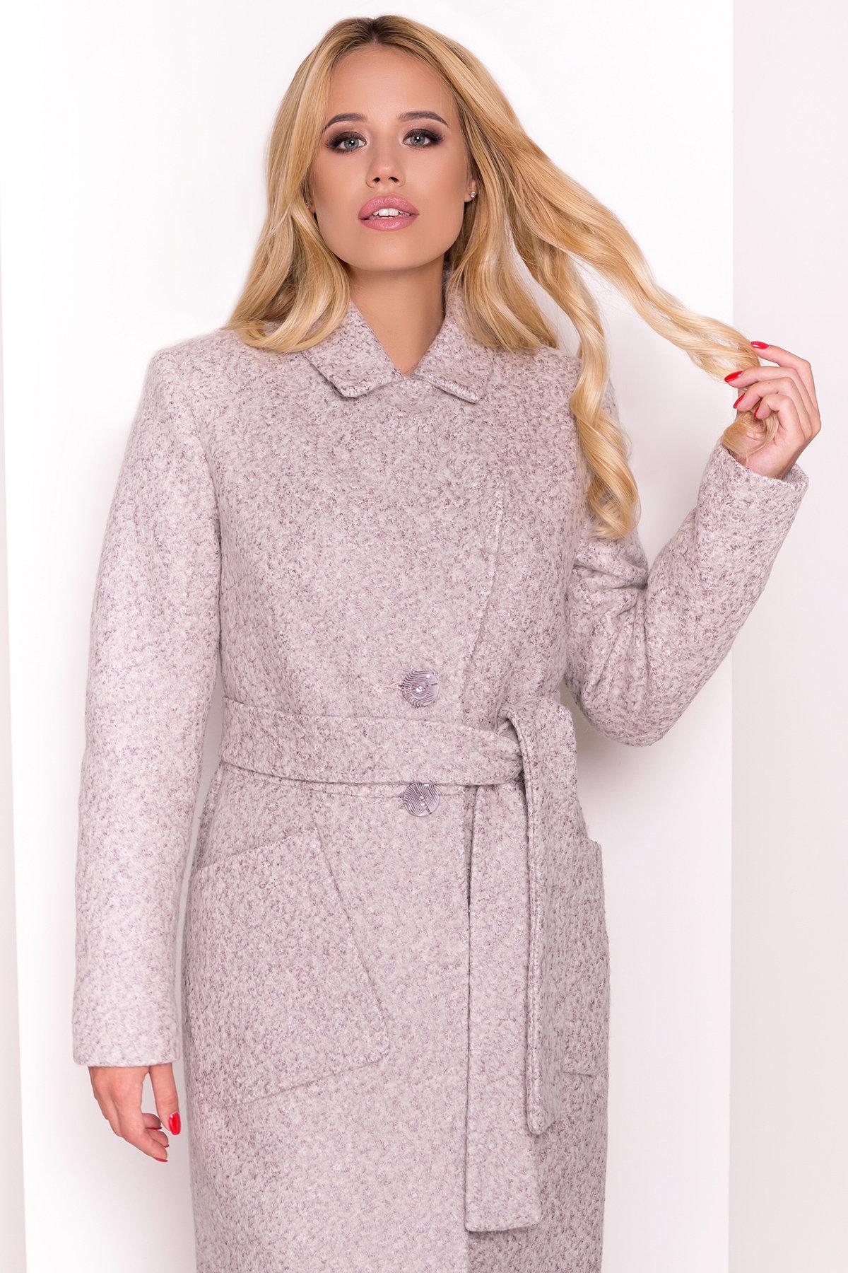 Пальто Габриэлла 4153 АРТ. 20309 Цвет: Серый/бежевый - фото 3, интернет магазин tm-modus.ru