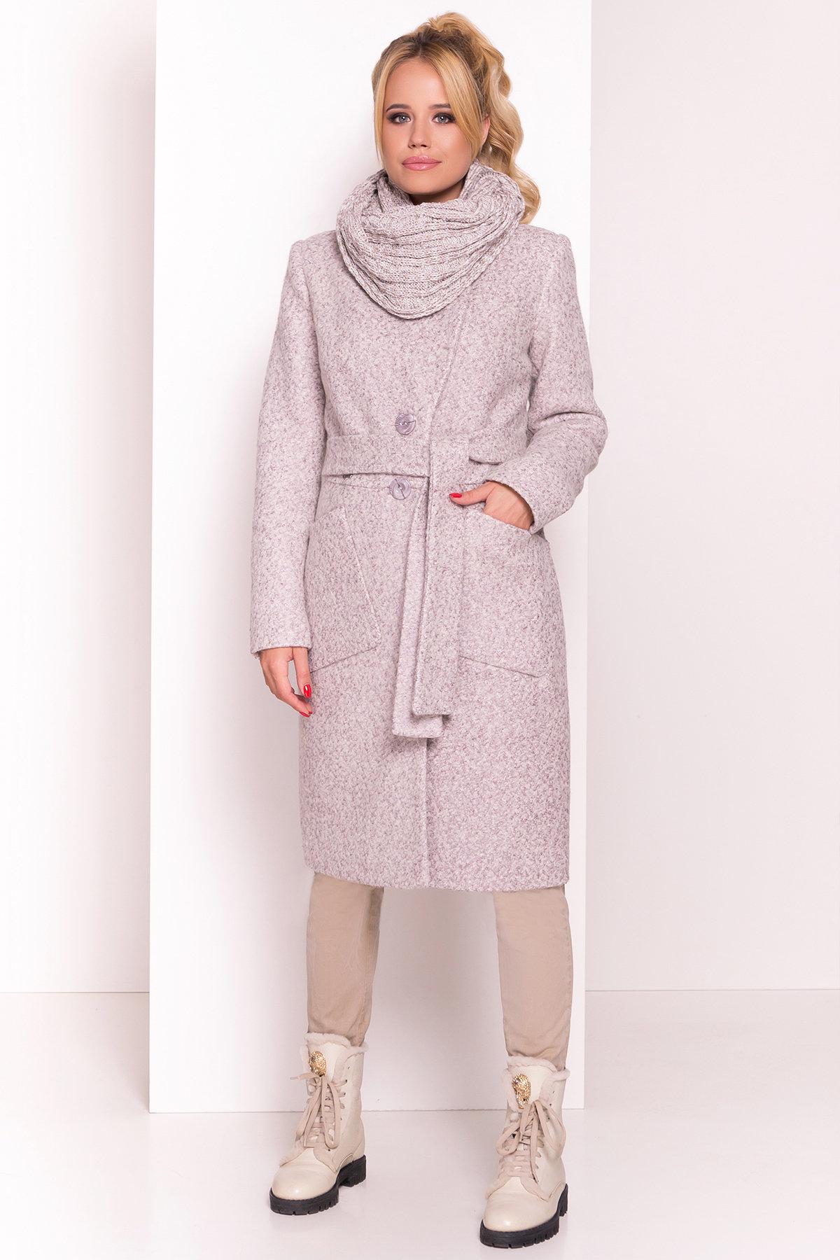 Пальто Габриэлла 4153 АРТ. 20309 Цвет: Серый/бежевый - фото 4, интернет магазин tm-modus.ru