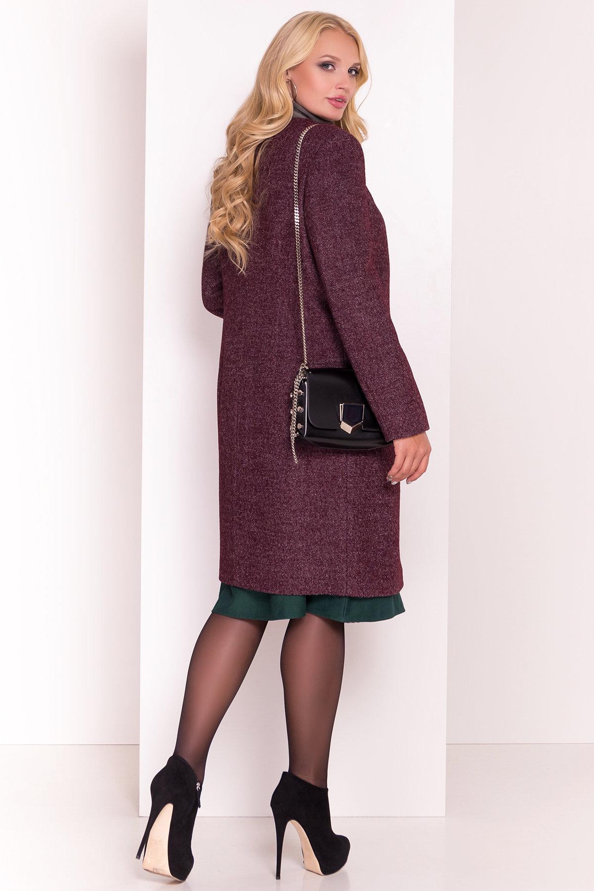 Демисезонное пальто цвета марсала Фортуна DONNA 3377 АРТ. 17323 Цвет: Марсала - фото 4, интернет магазин tm-modus.ru