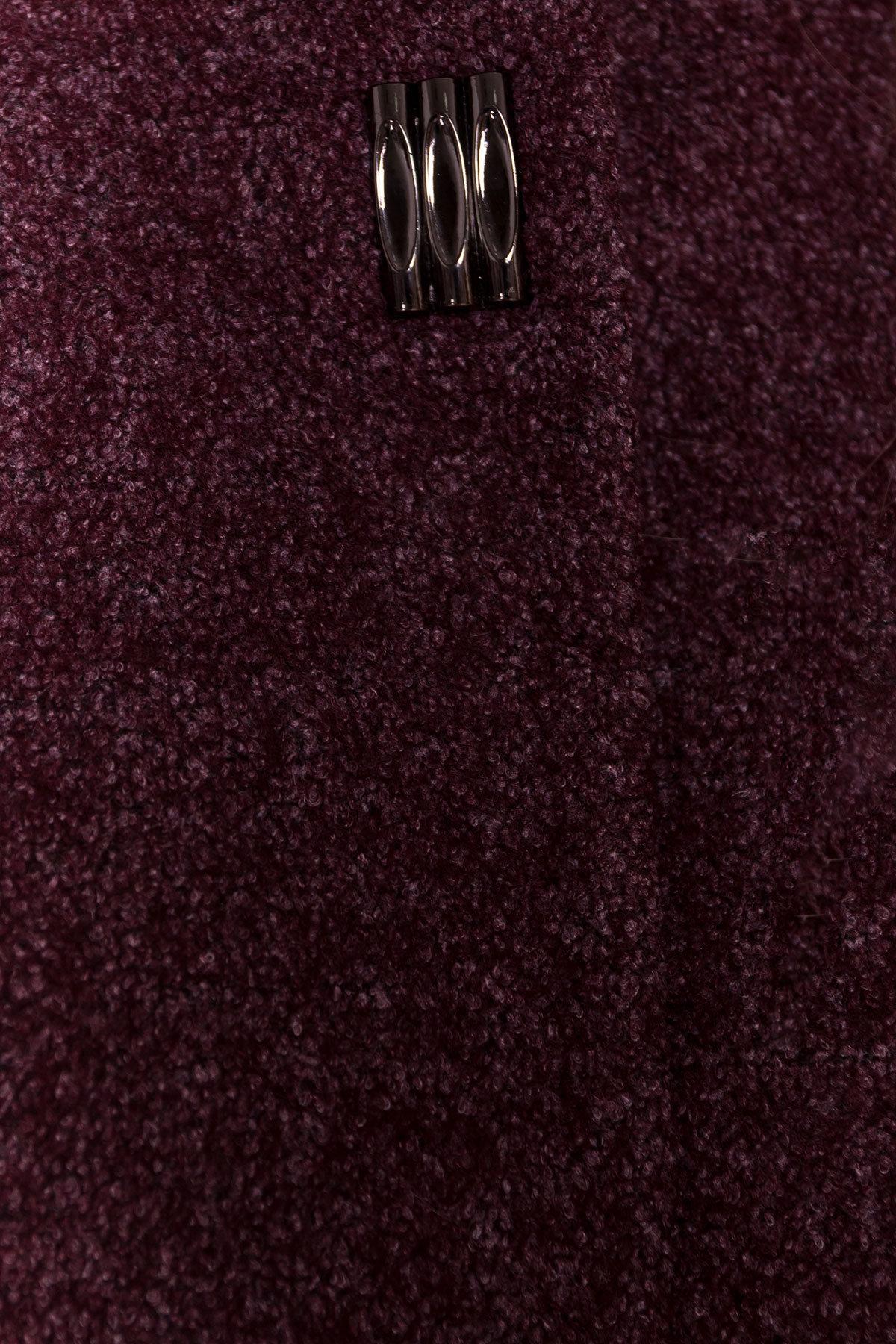 Демисезонное пальто цвета марсала Фортуна DONNA 3377 АРТ. 17323 Цвет: Марсала - фото 5, интернет магазин tm-modus.ru