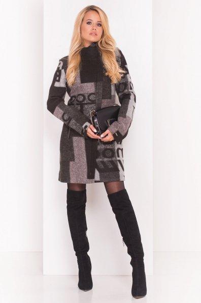 Пальто Эльпассо 0172 Цвет: Черный / серый Д5/С1