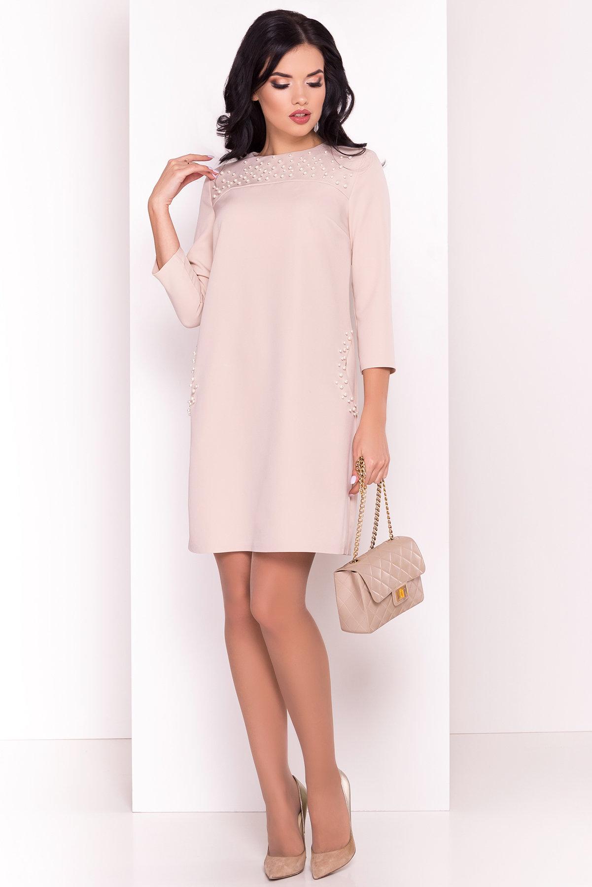 Платье Мими 5460 Цвет: Бежевый