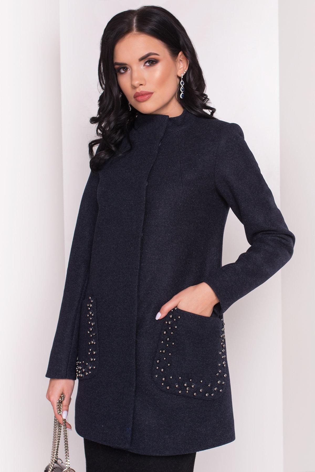 Пальто Даймон 5377 АРТ. 36744 Цвет: Темно-синий 6 - фото 4, интернет магазин tm-modus.ru