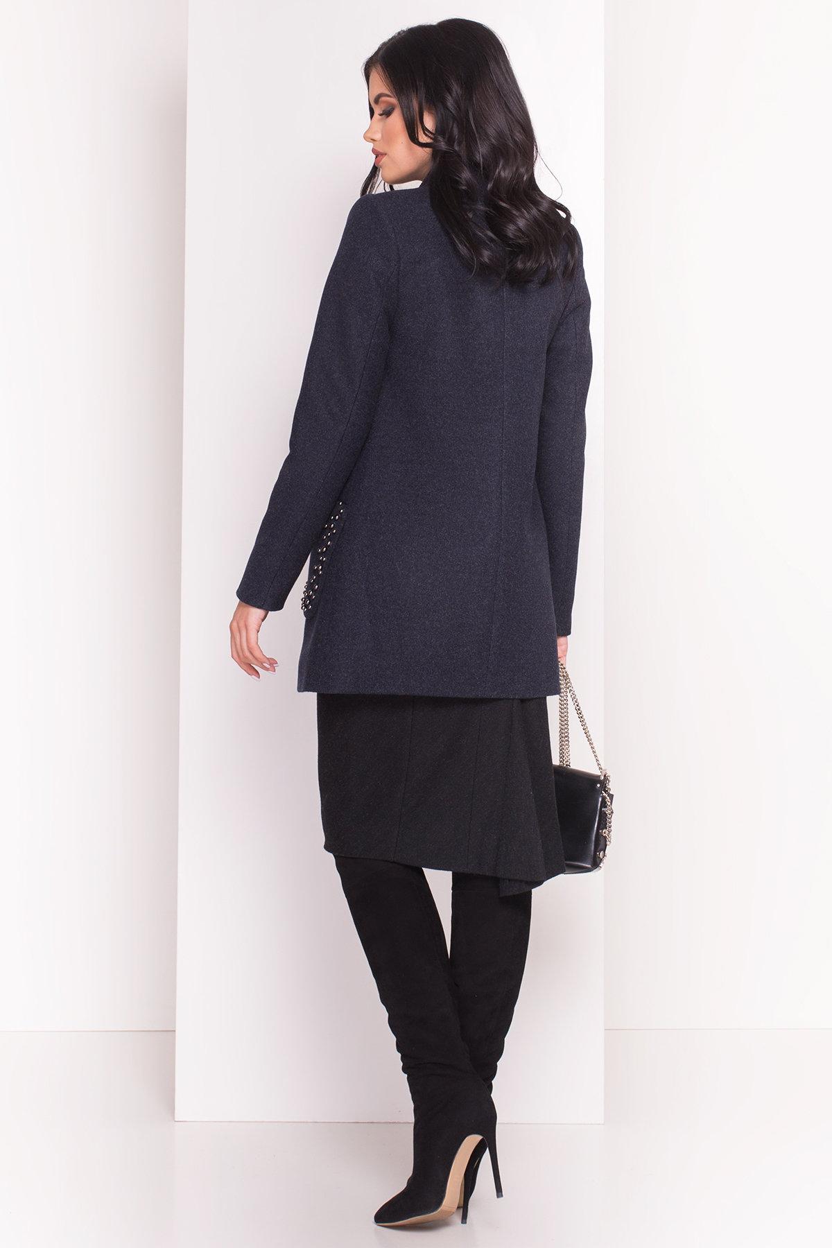 Пальто Даймон 5377 АРТ. 36744 Цвет: Темно-синий 6 - фото 3, интернет магазин tm-modus.ru