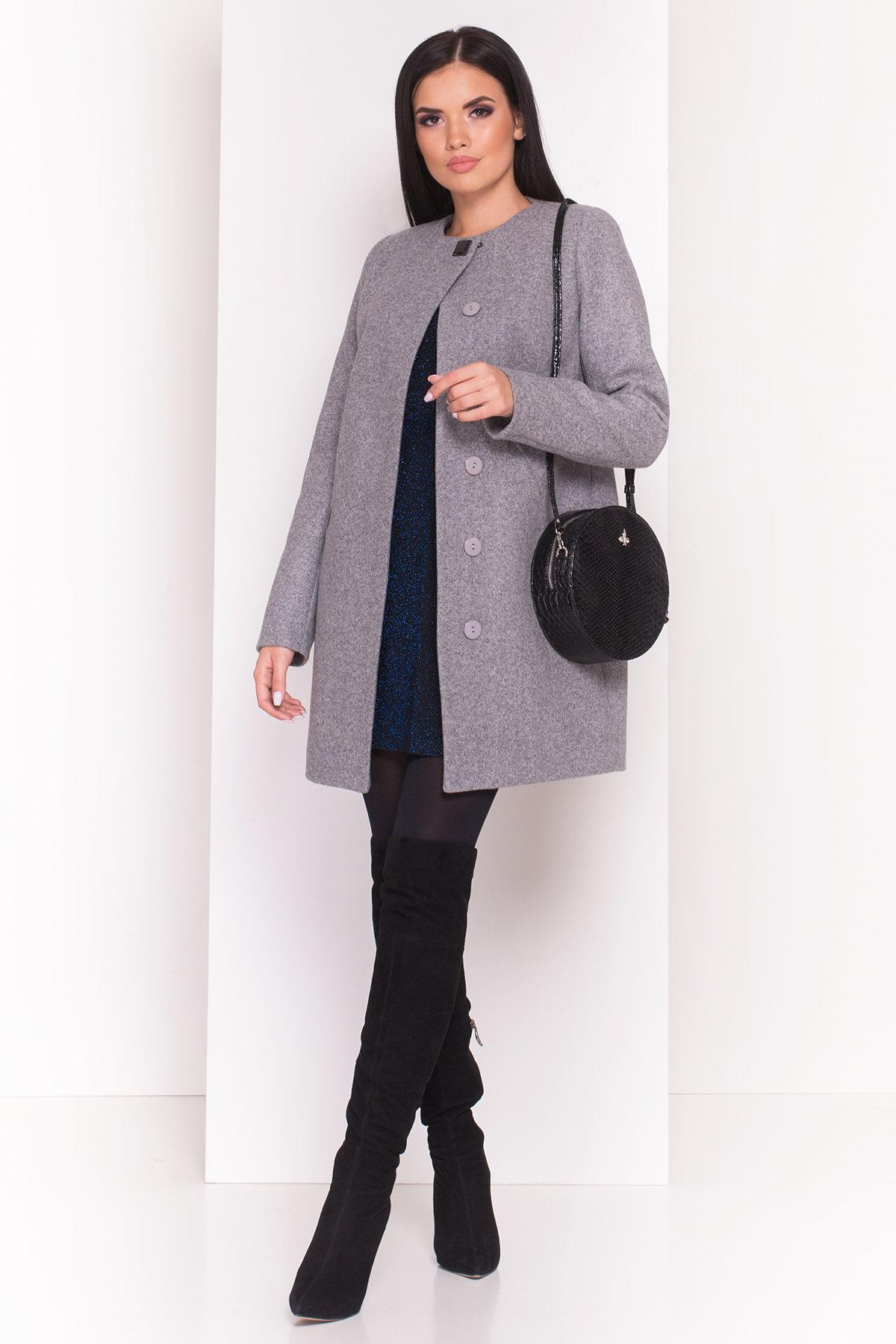 Пальто Шаника 5387 Цвет: Серый Светлый 77