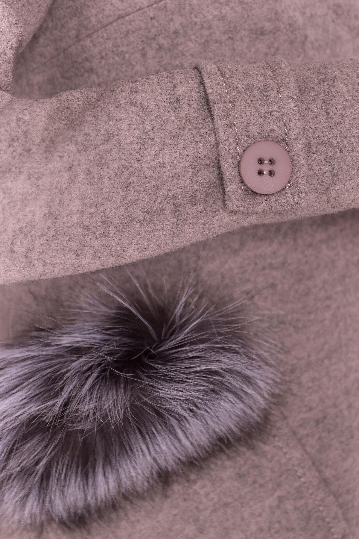 Демисезонное пальто трапеция в расцветках Латте 5429 Цвет: Бежевый 31