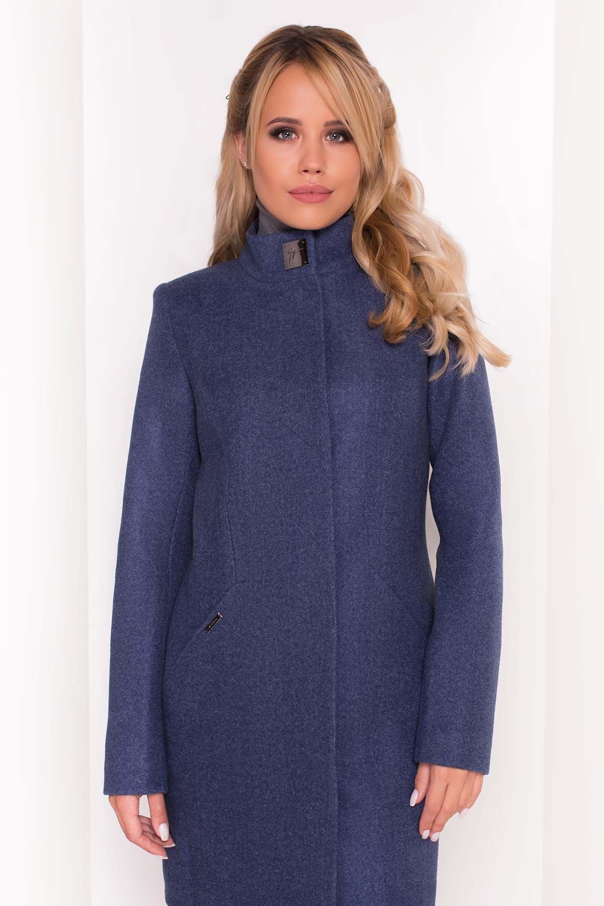 Пальто Сплит 4374 АРТ. 37818 Цвет: Джинс - фото 4, интернет магазин tm-modus.ru