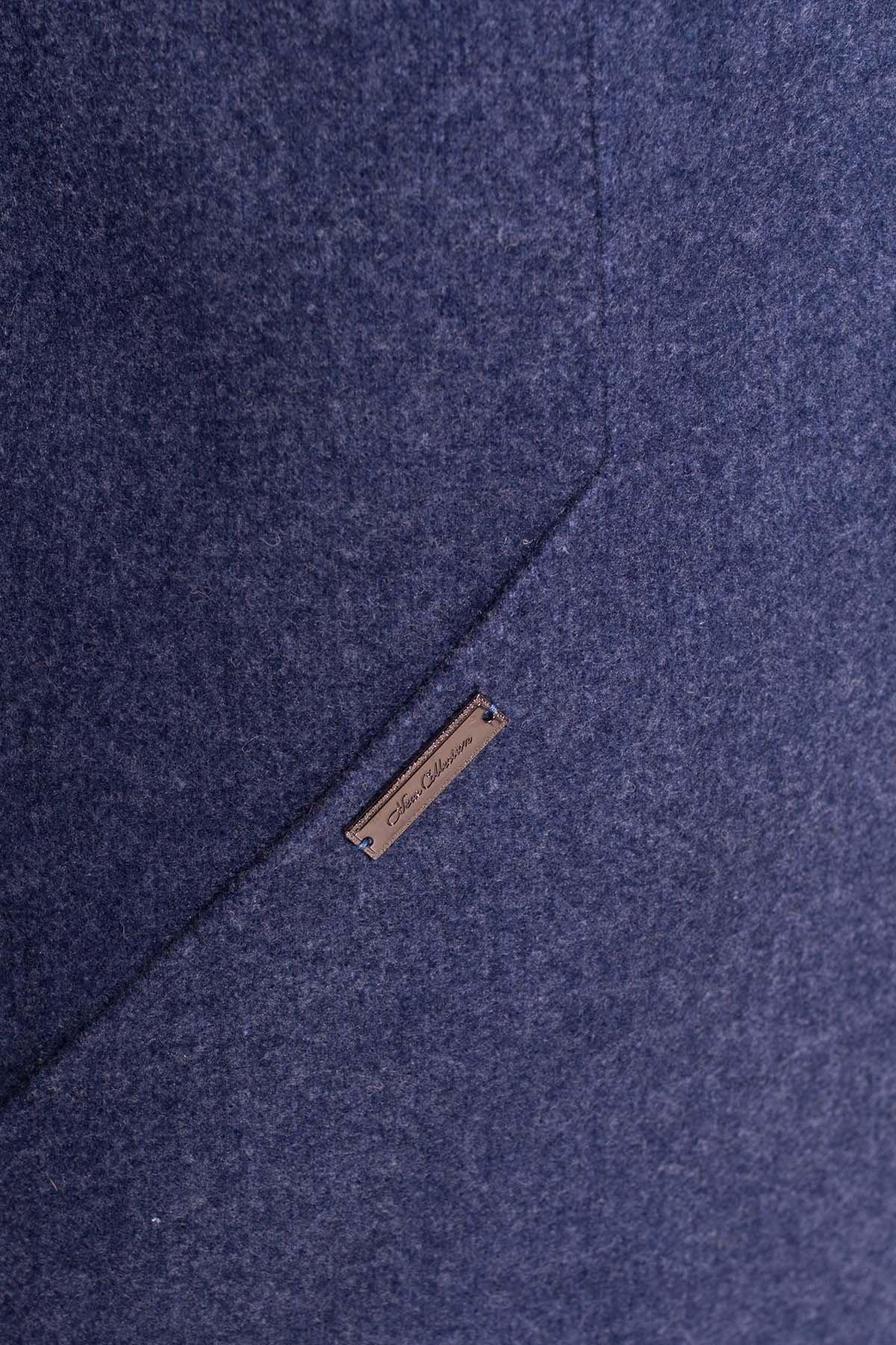Пальто Сплит 4374 АРТ. 37818 Цвет: Джинс - фото 5, интернет магазин tm-modus.ru