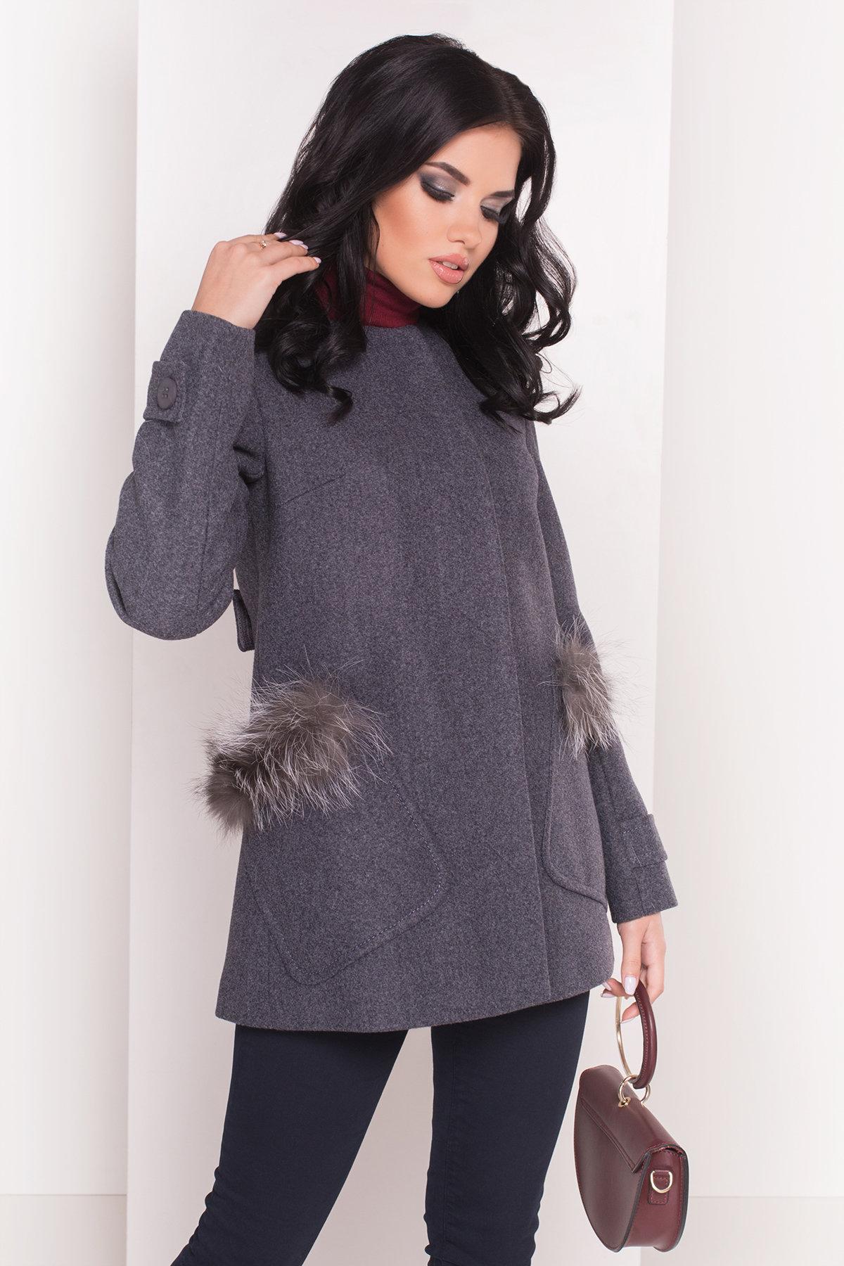 Пальто Латте 5365 Цвет: Серый/голубой 43